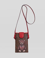 TEDDY BEAR PRINT PHONE HOLDER