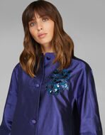 LIGHT EMBROIDERED SILK COAT