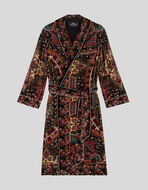 CAPPOTTO IN VELLUTO PAISLEY FLOREALE