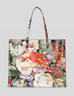 FLORAL SHOPPING BAG WITH PEGASO