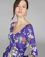 花柄ジャージードレス
