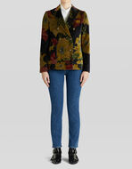 VELVET JACKET WITH TROPICAL FLOWERS