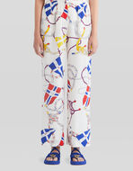 NAUTICAL FLAG PRINT SILK CULOTTES