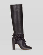 LEATHER BOOTS WITH WEAVE