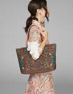 フローラル柄刺繍 PAISLEY トートバッグ