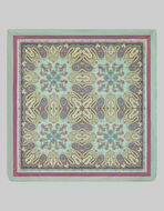 SATIN QUILT WITH PAISLEY PATTERNS