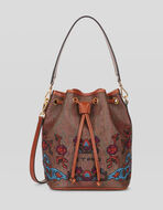 PAISLEY BUCKET BAG WITH EMBROIDERY
