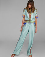 SCARF PRINT PALAZZO TROUSERS