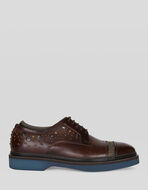 LEATHER LACE-UPS WITH STUDS