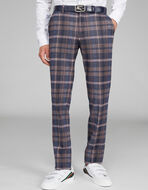 CHECK JERSEY TAILORED TROUSERS
