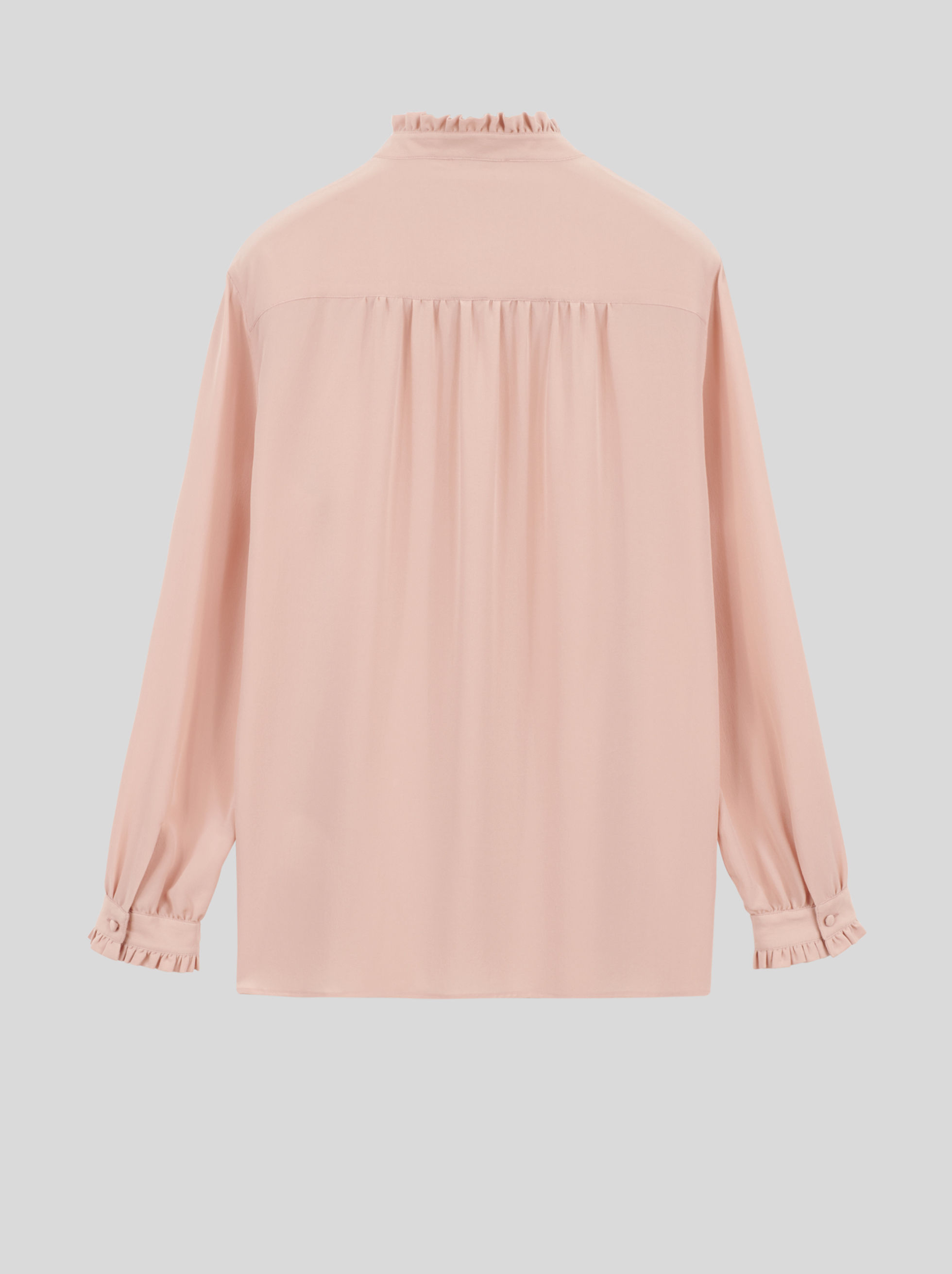 PLISSÉ SILK SHIRT