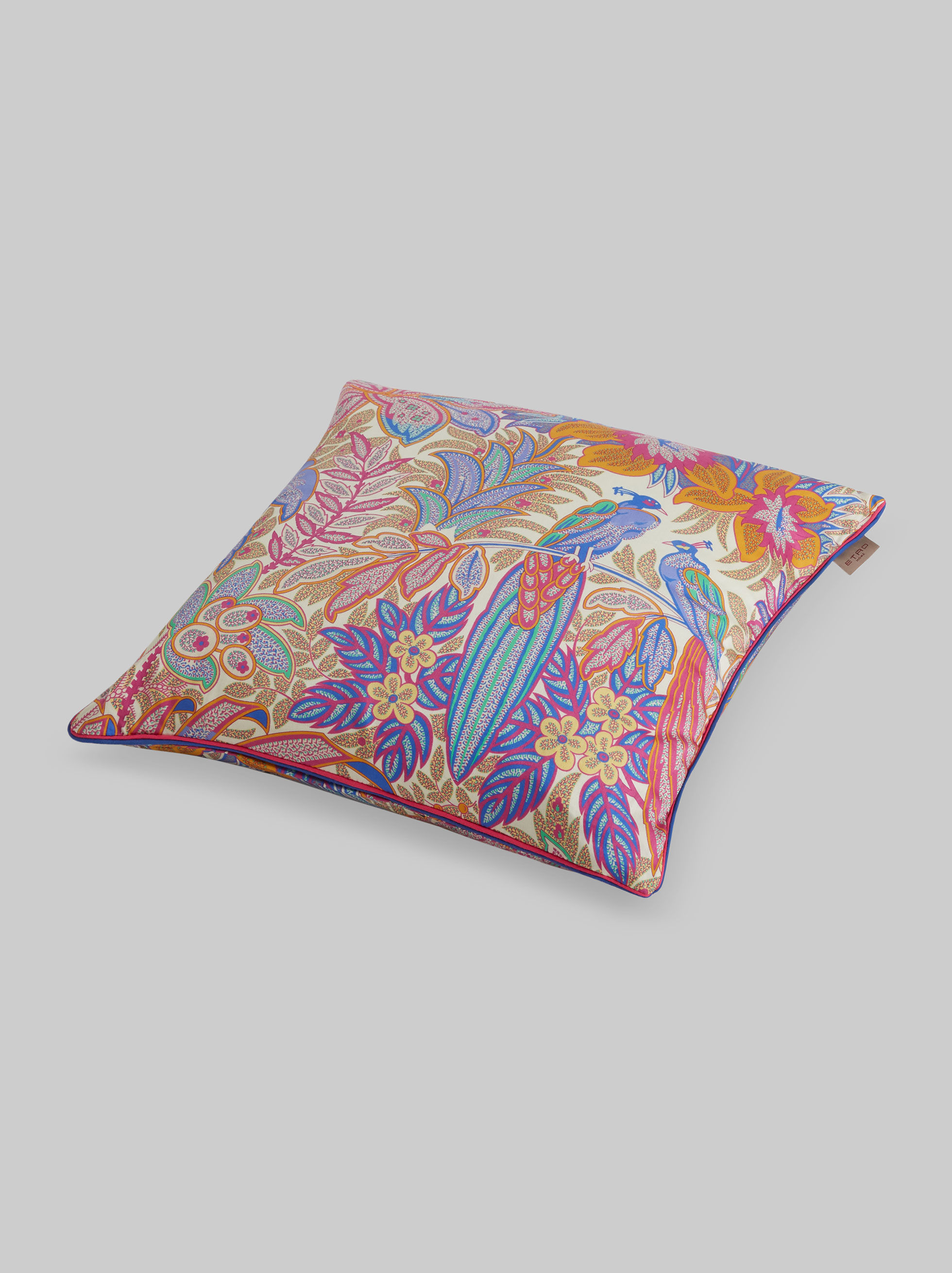 JUNGLE PRINT SATIN CUSHION