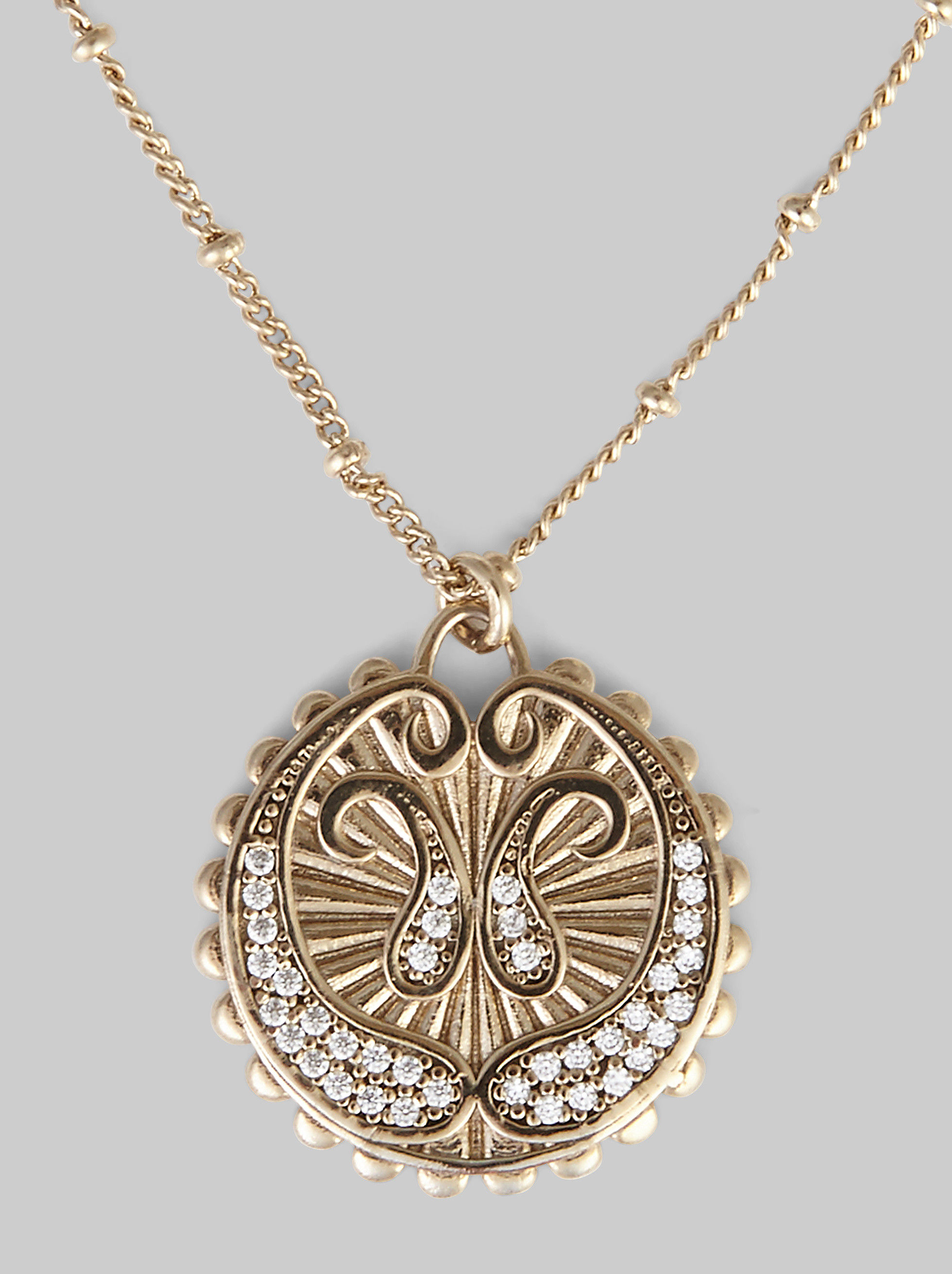 NECKLACE WITH PAISLEY COIN