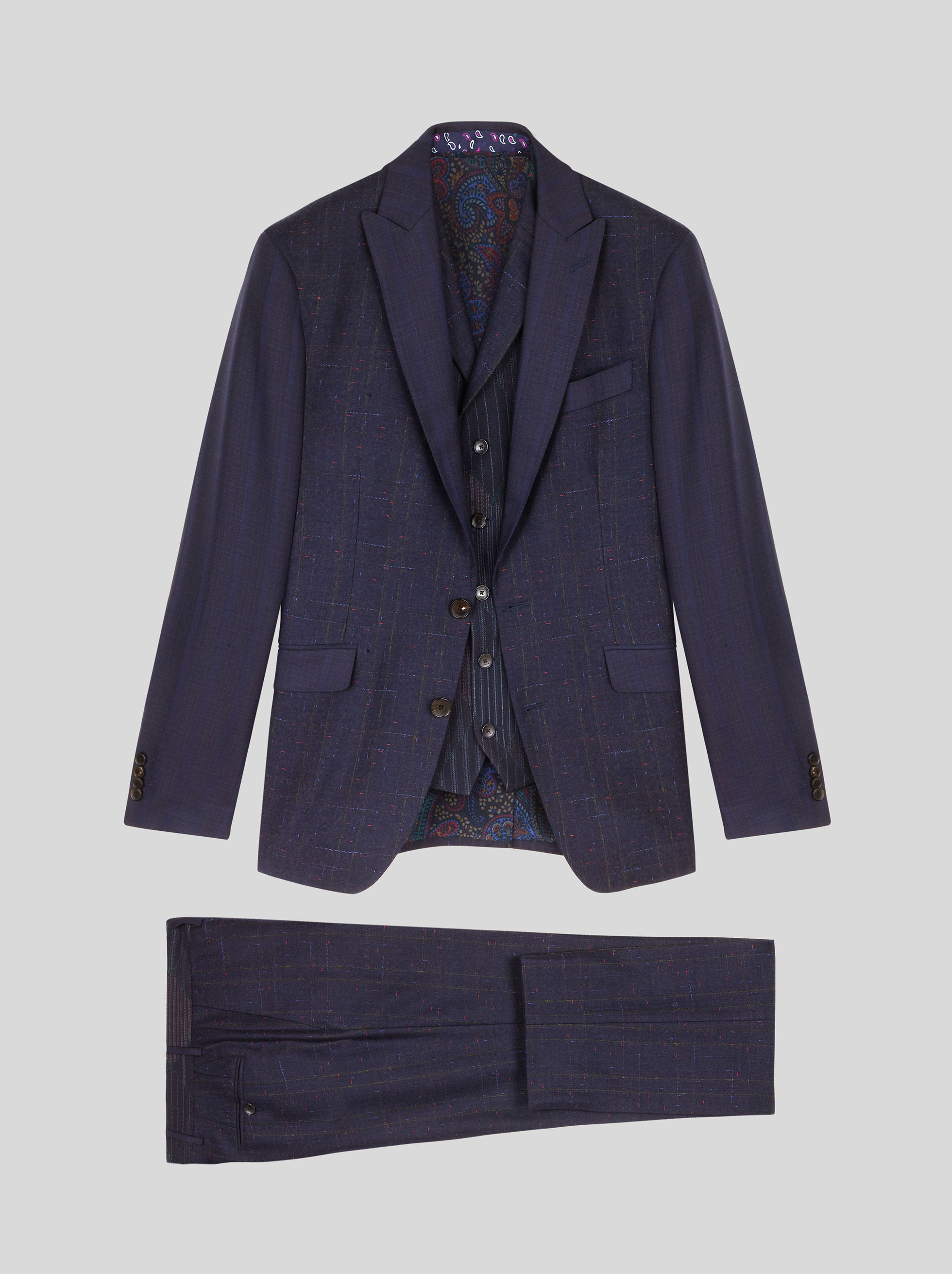 PATCHWORK THREE-PIECE SUIT