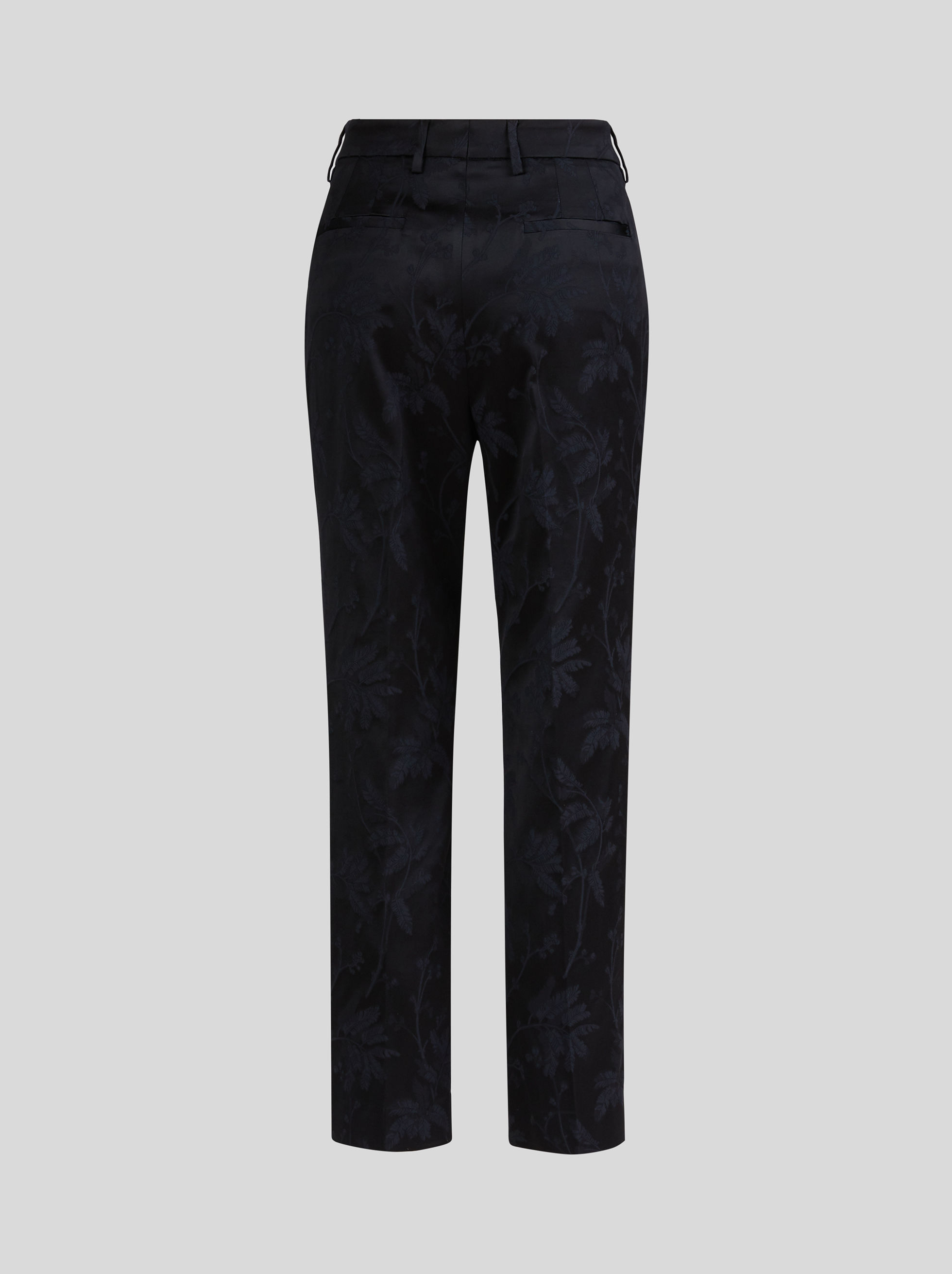 JACQUARD TROUSERS WITH LEAFY PATTERN
