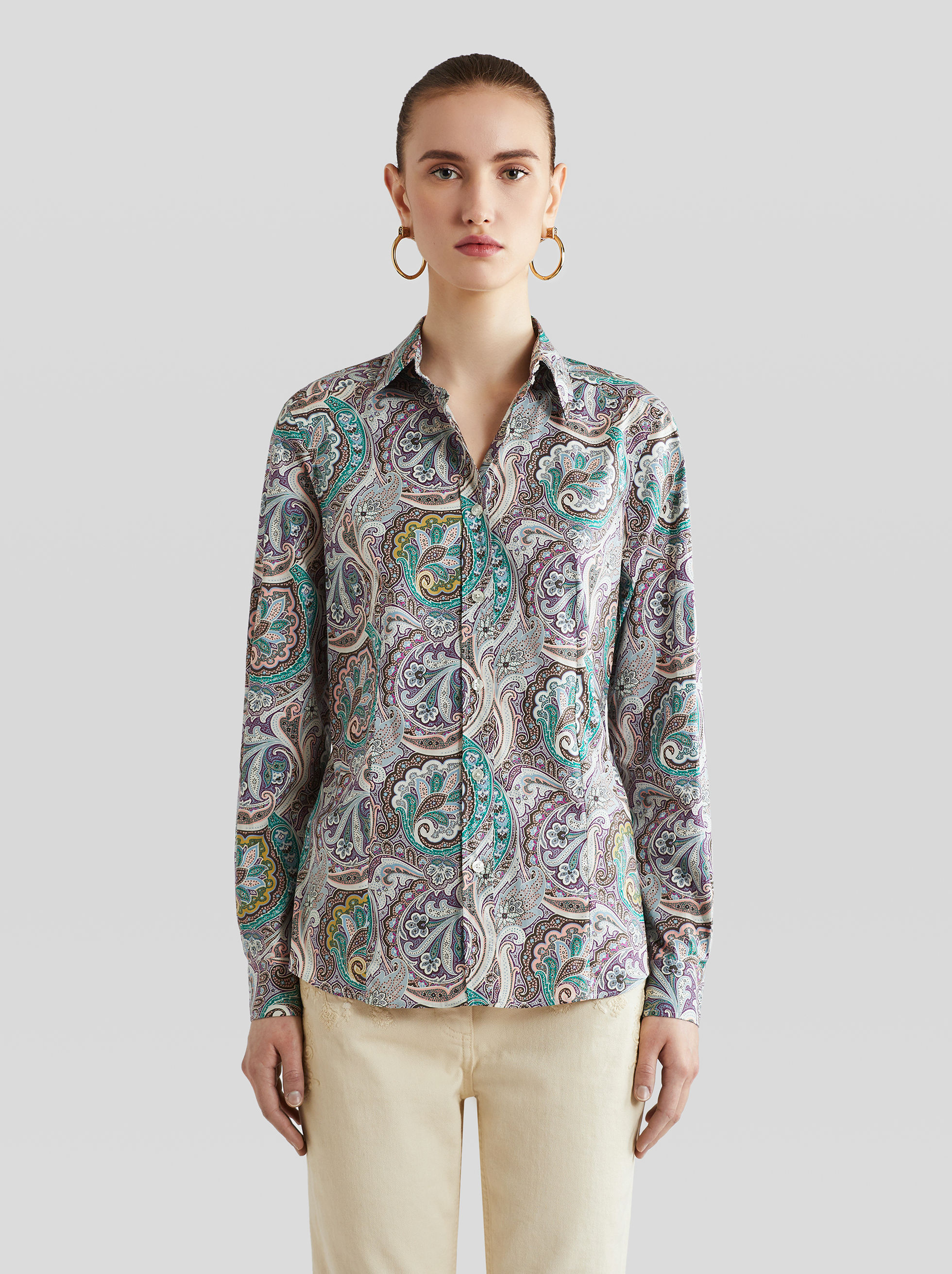 PAISLEY PRINT COTTON SHIRT