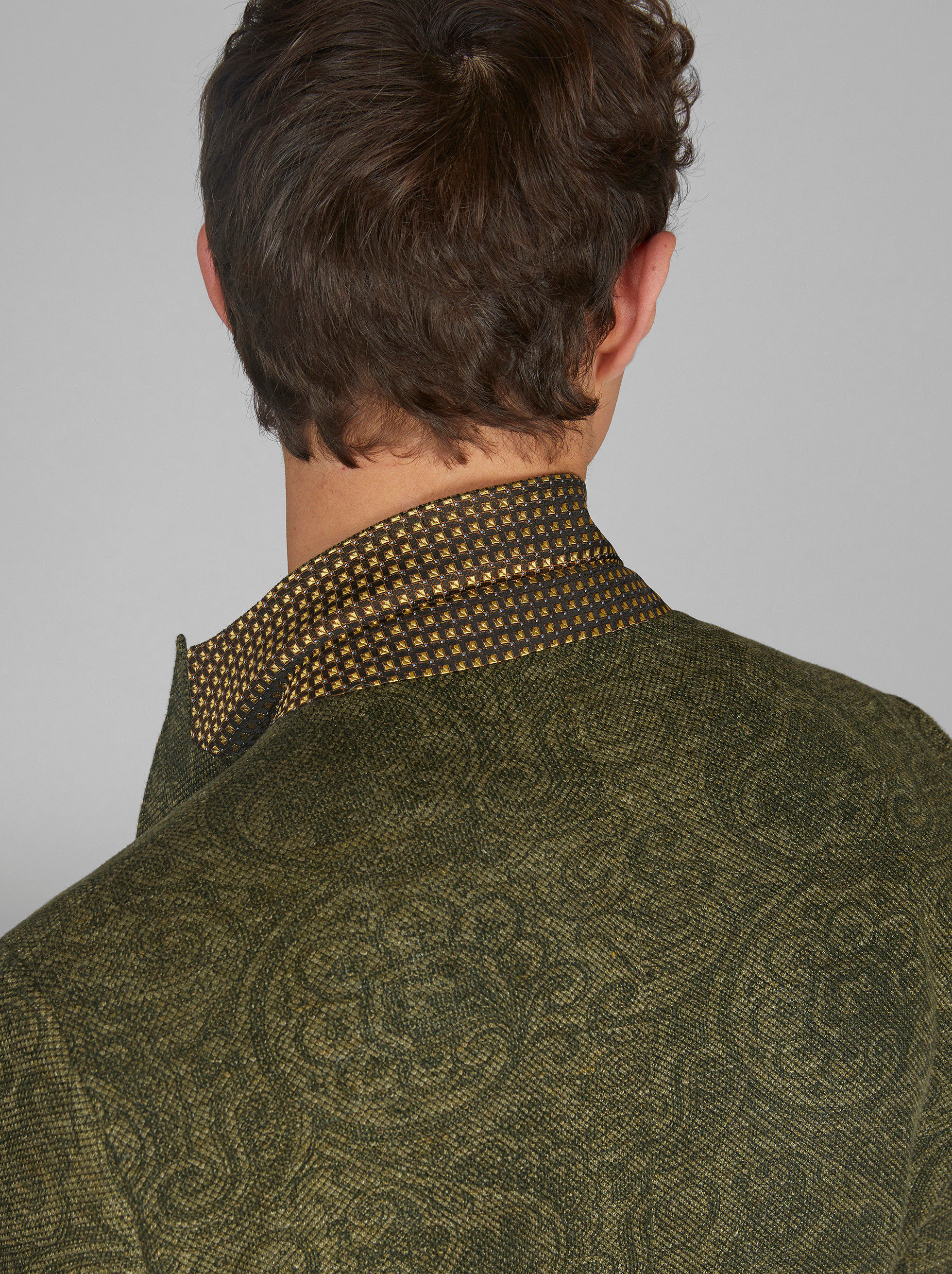 PAISLEY JERSEY PIQUE JACKET
