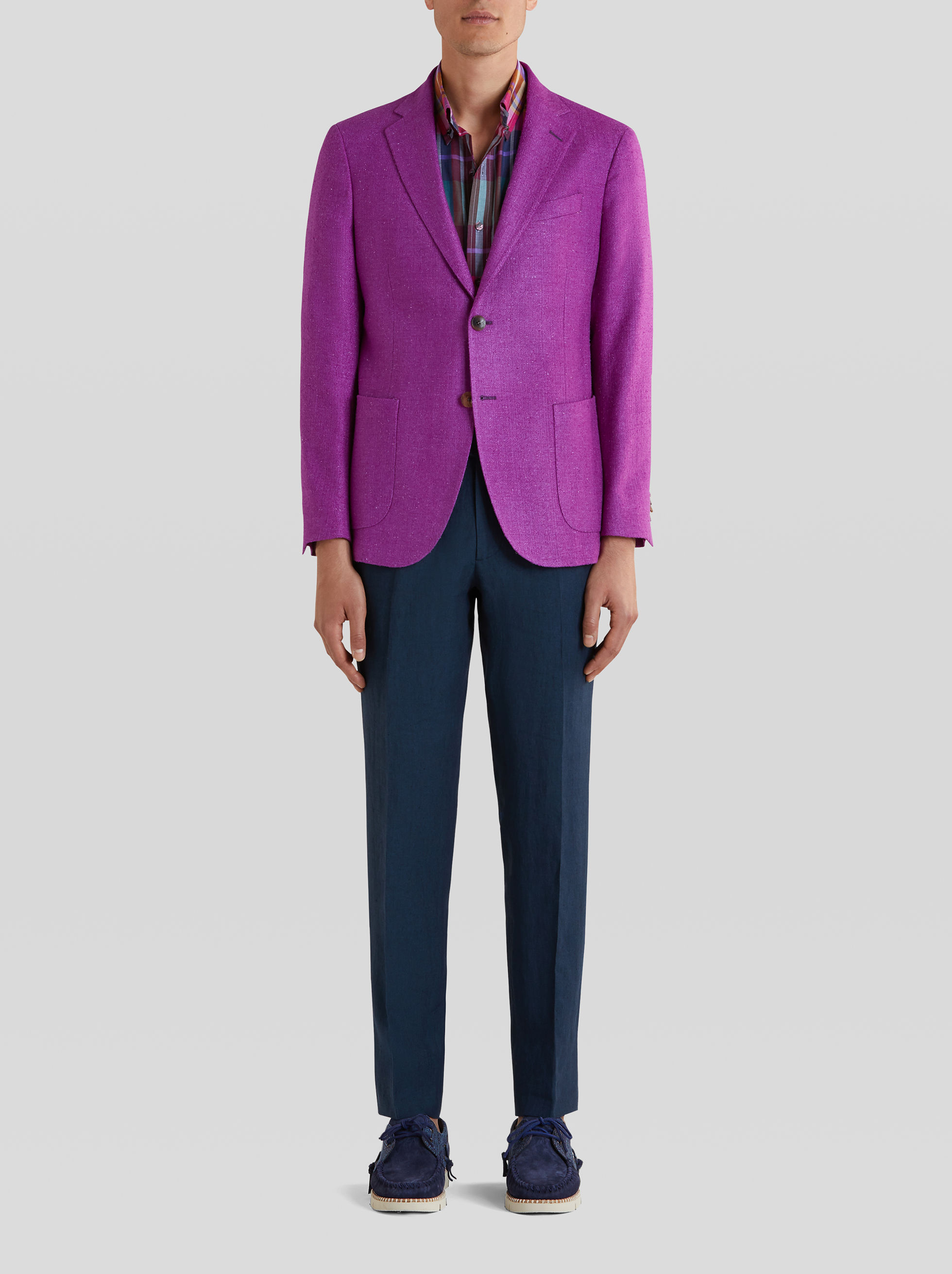 TAILORED JACKET IN SILK