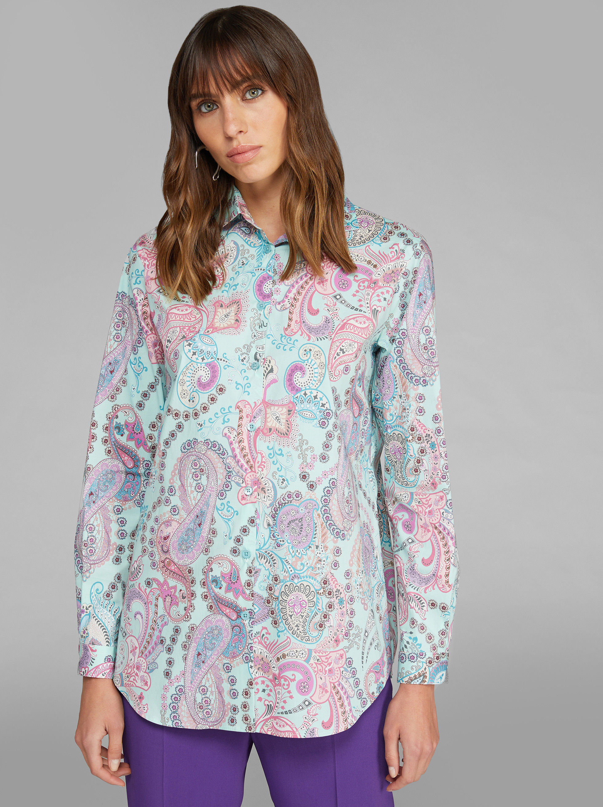 SHIRT WITH PAISLEY DESIGNS