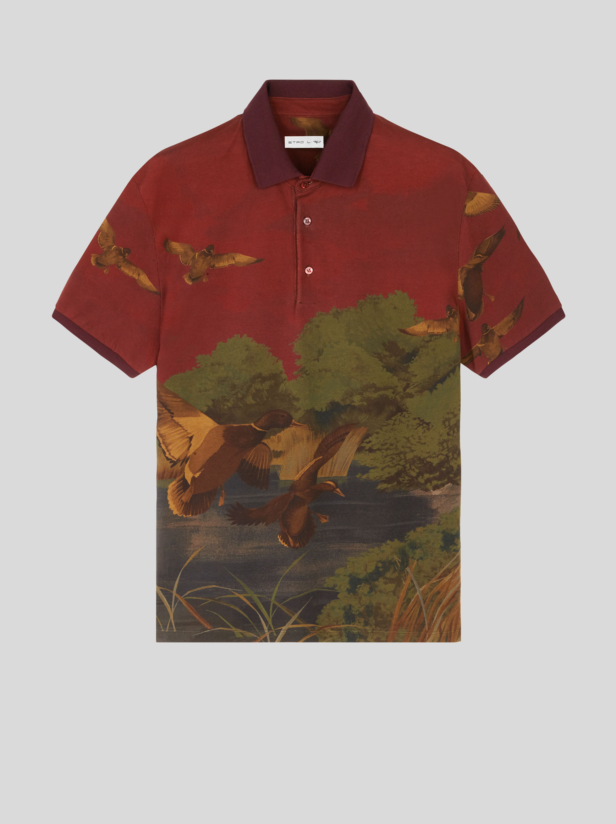 DUCK PRINT POLO SHIRT