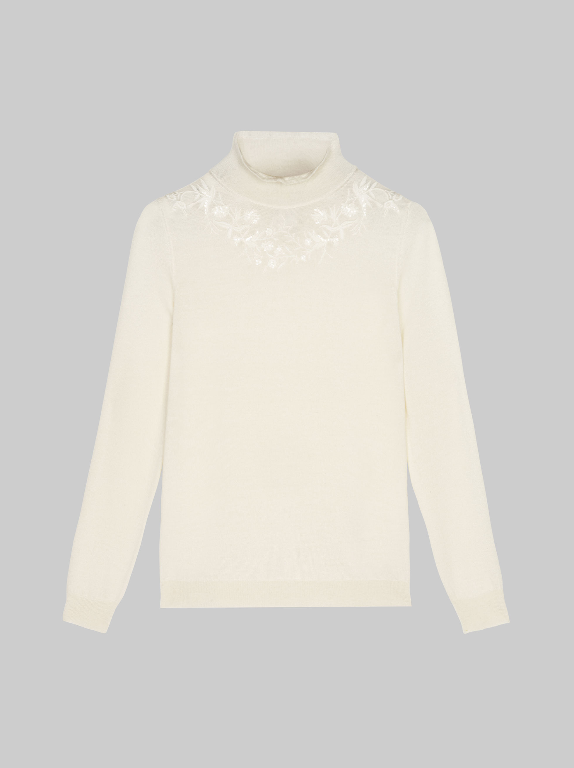 SWEATER WITH SEQUIN EMBROIDERY