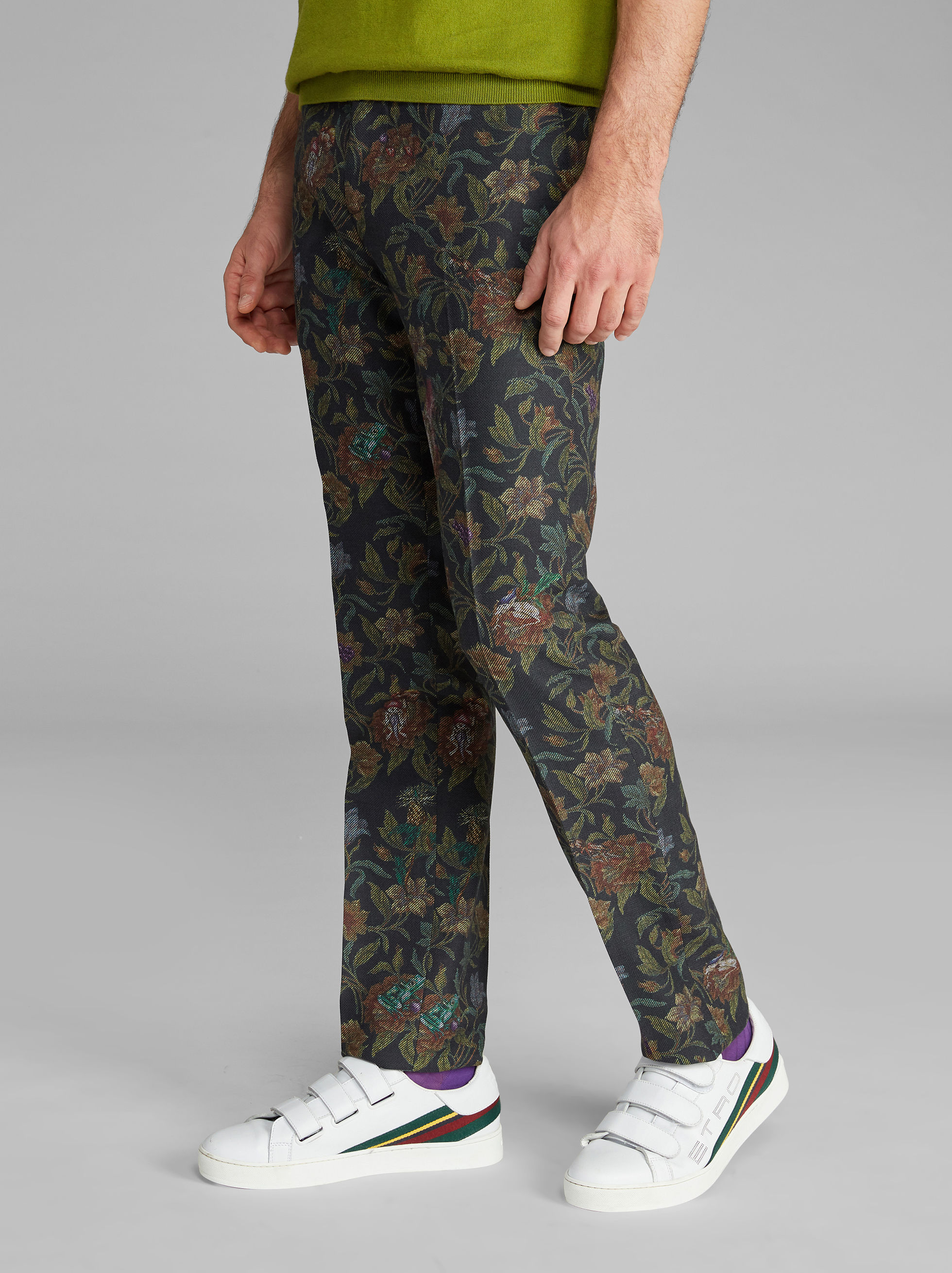 ROSE-PRINT TROUSERS