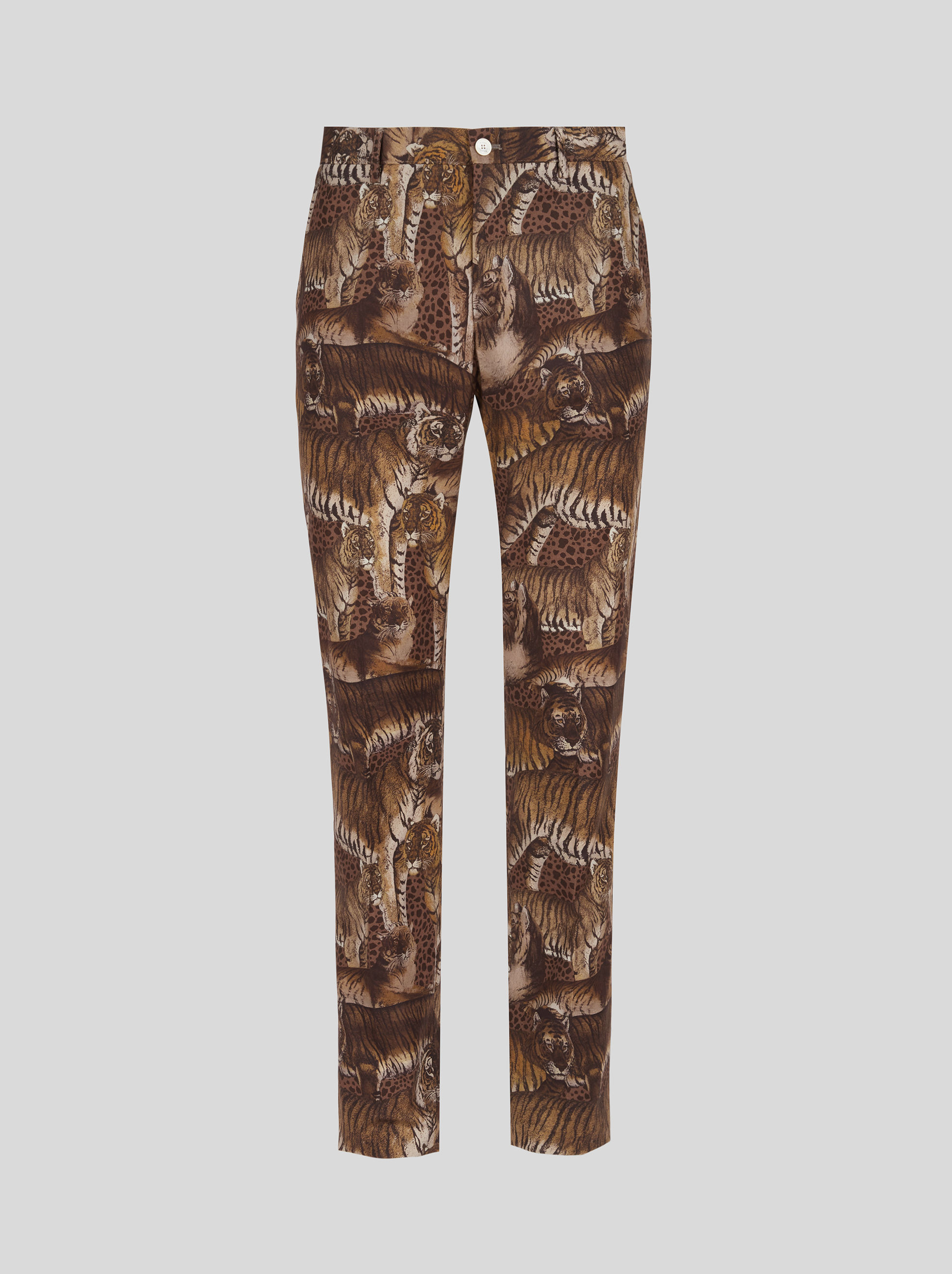COTTON TROUSERS IN ANIMAL PRINT