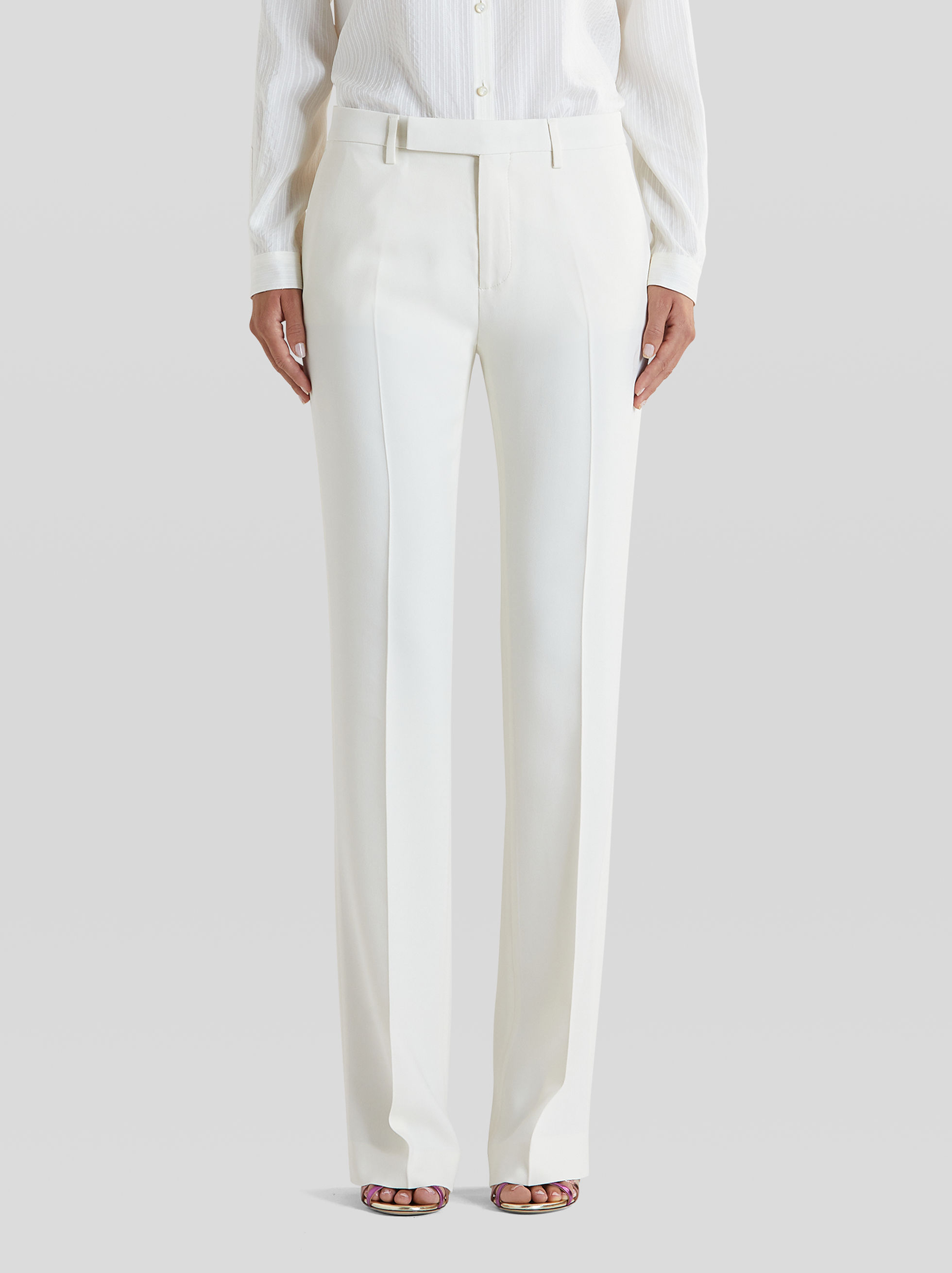 TAILORED JACQUARD TROUSERS