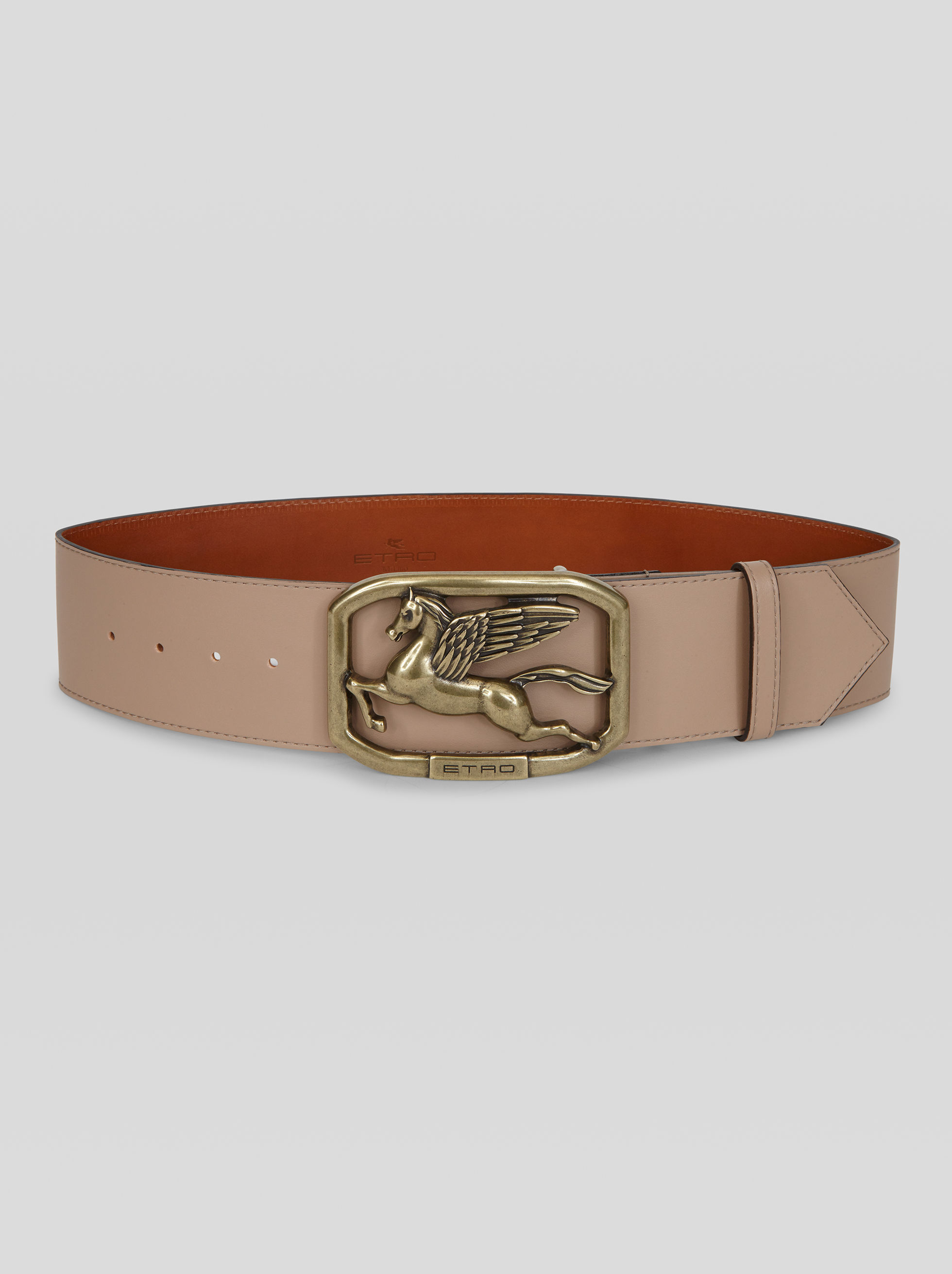 LEATHER BELT WITH PEGASO BUCKLE