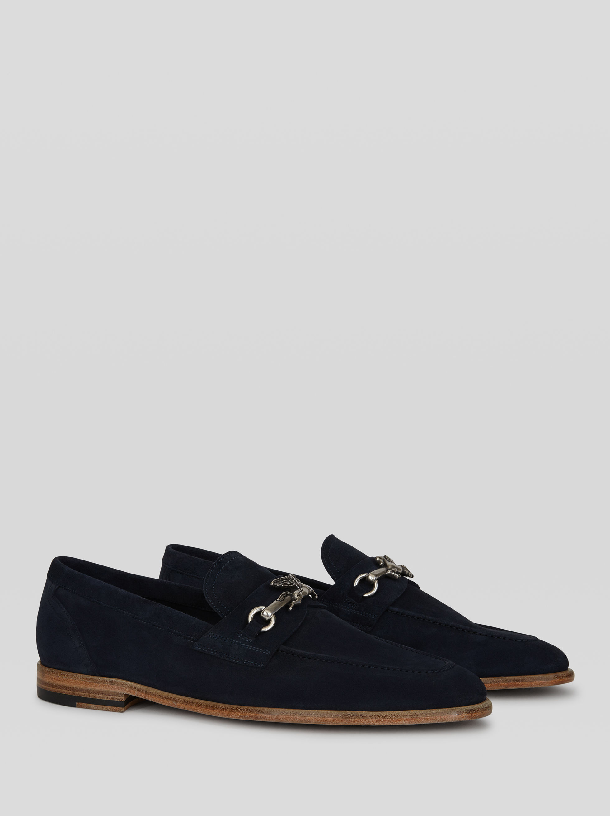 SUEDE MOCCASINS WITH PEGASO