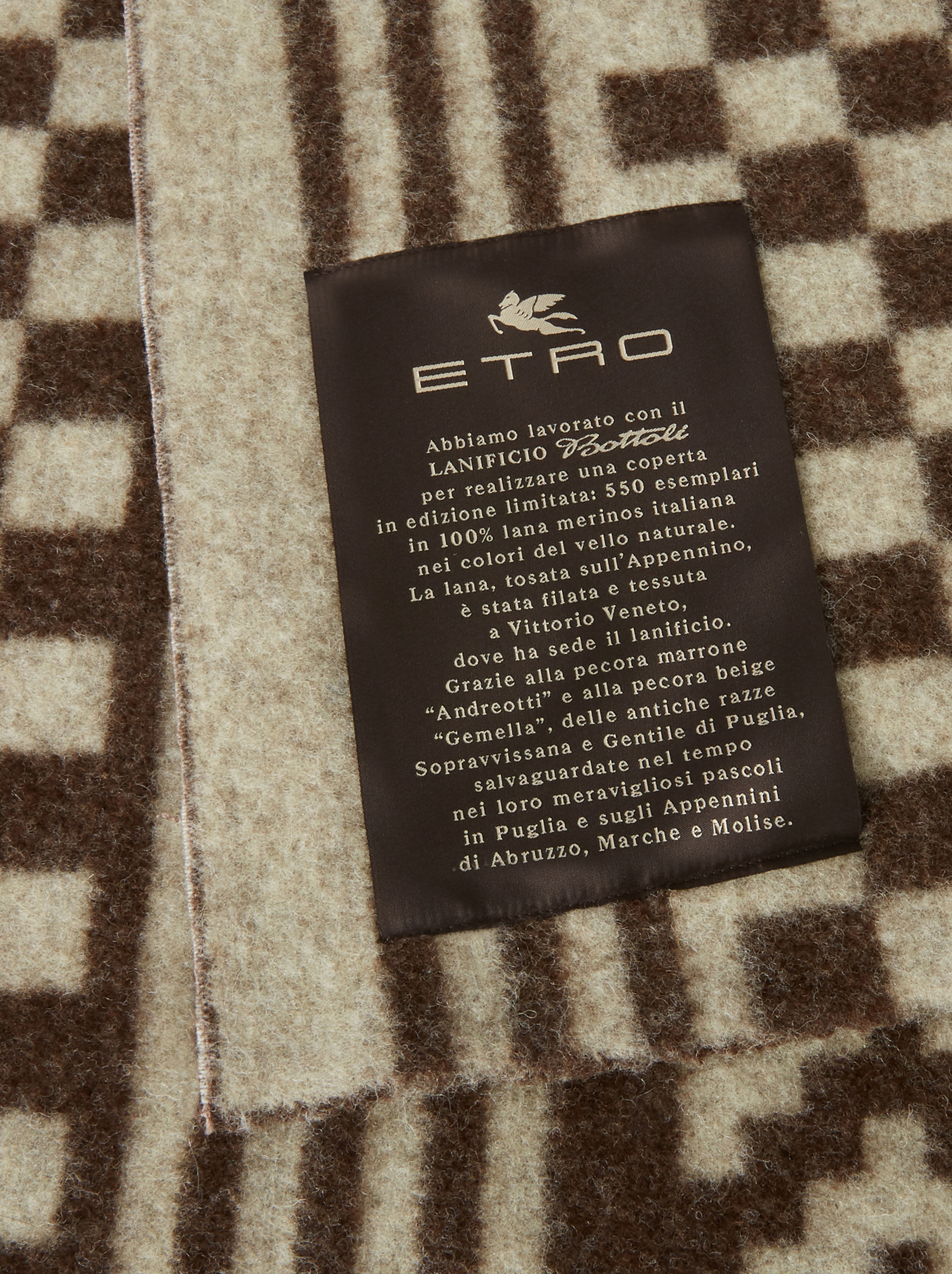 PEGASO BLANKET IN MERINO WOOL