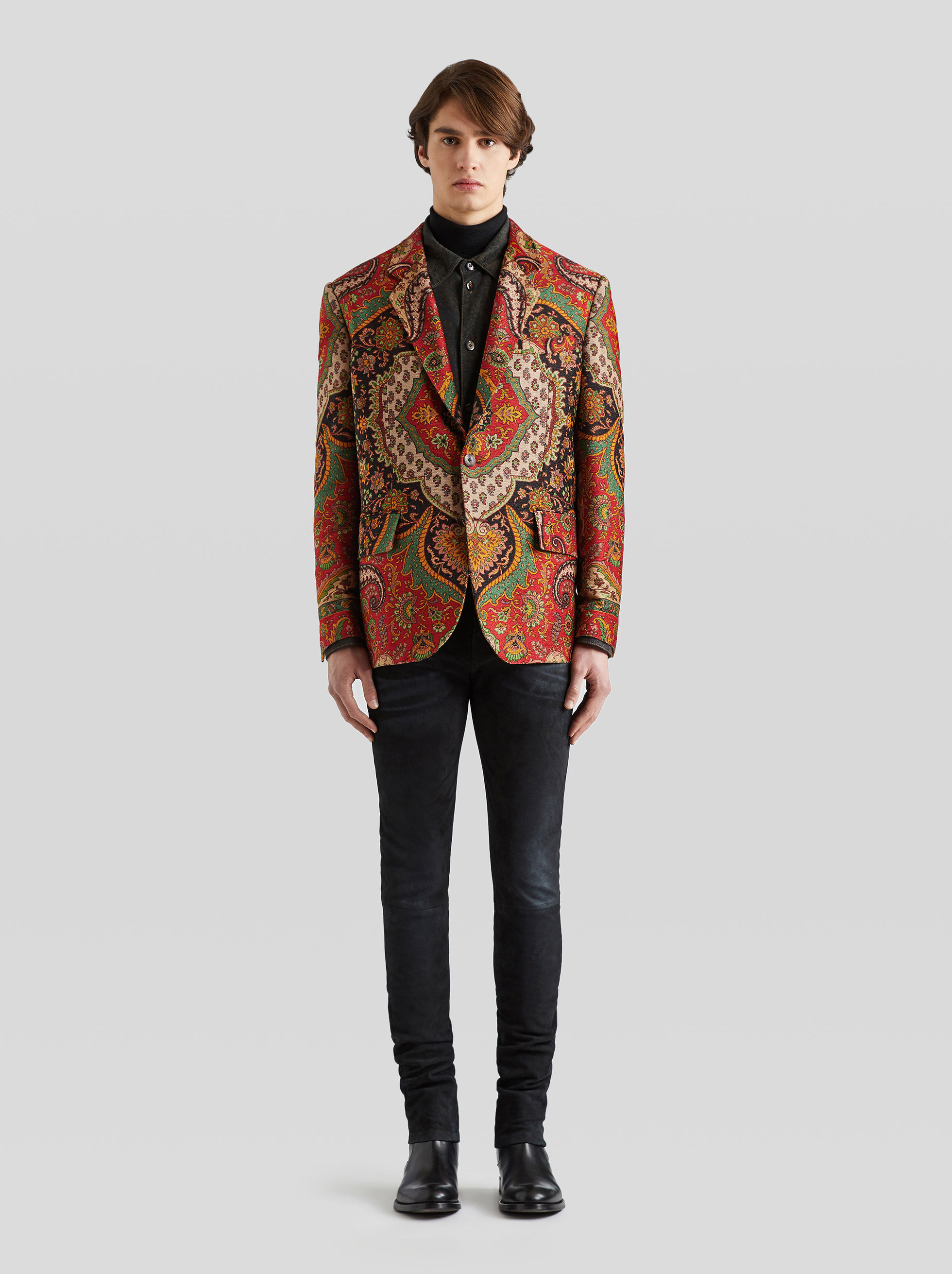 PAISLEY PRINT TAILORED JACKET
