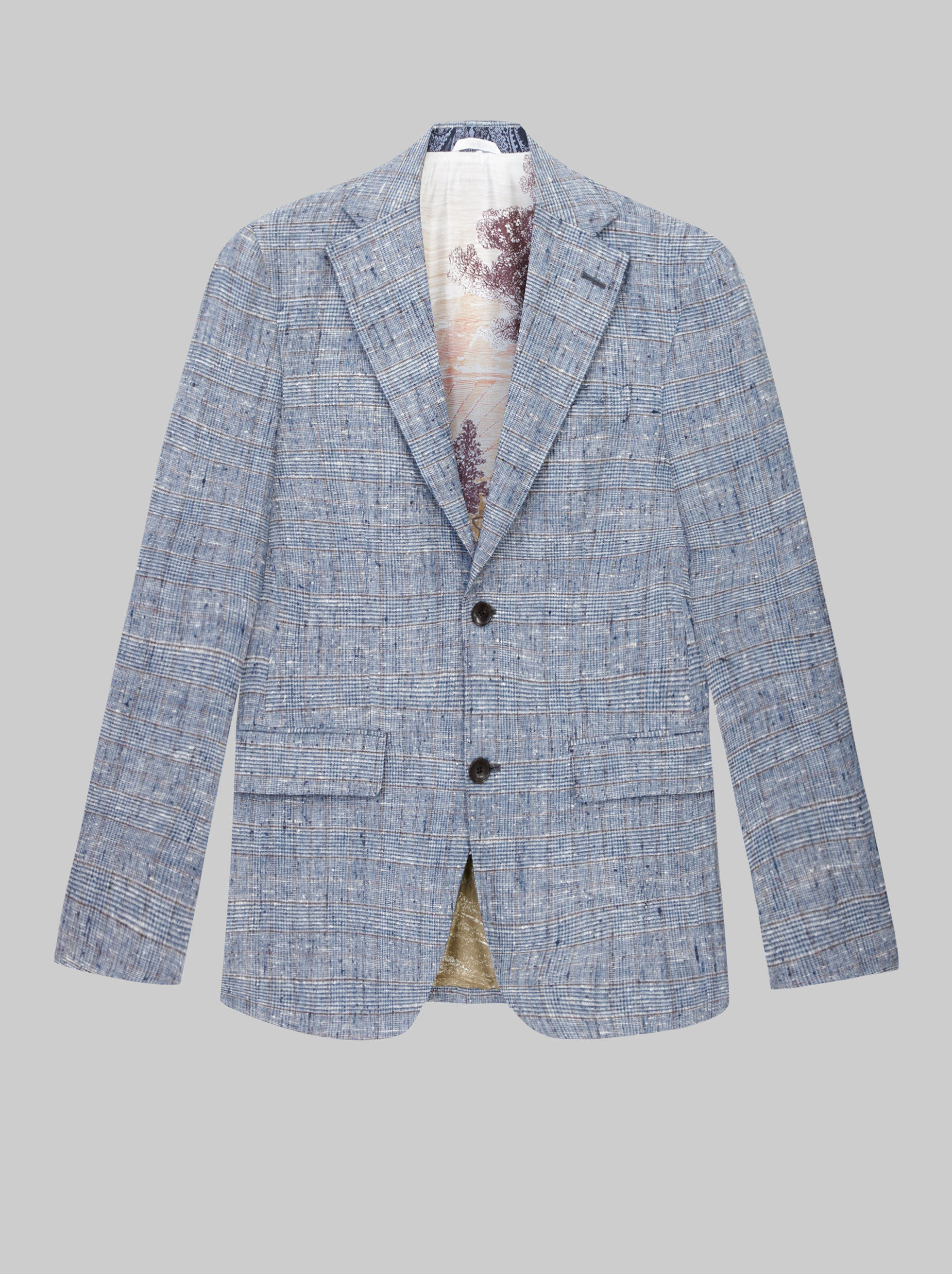 CHECK COTTON BLEND TAILORED JACKET