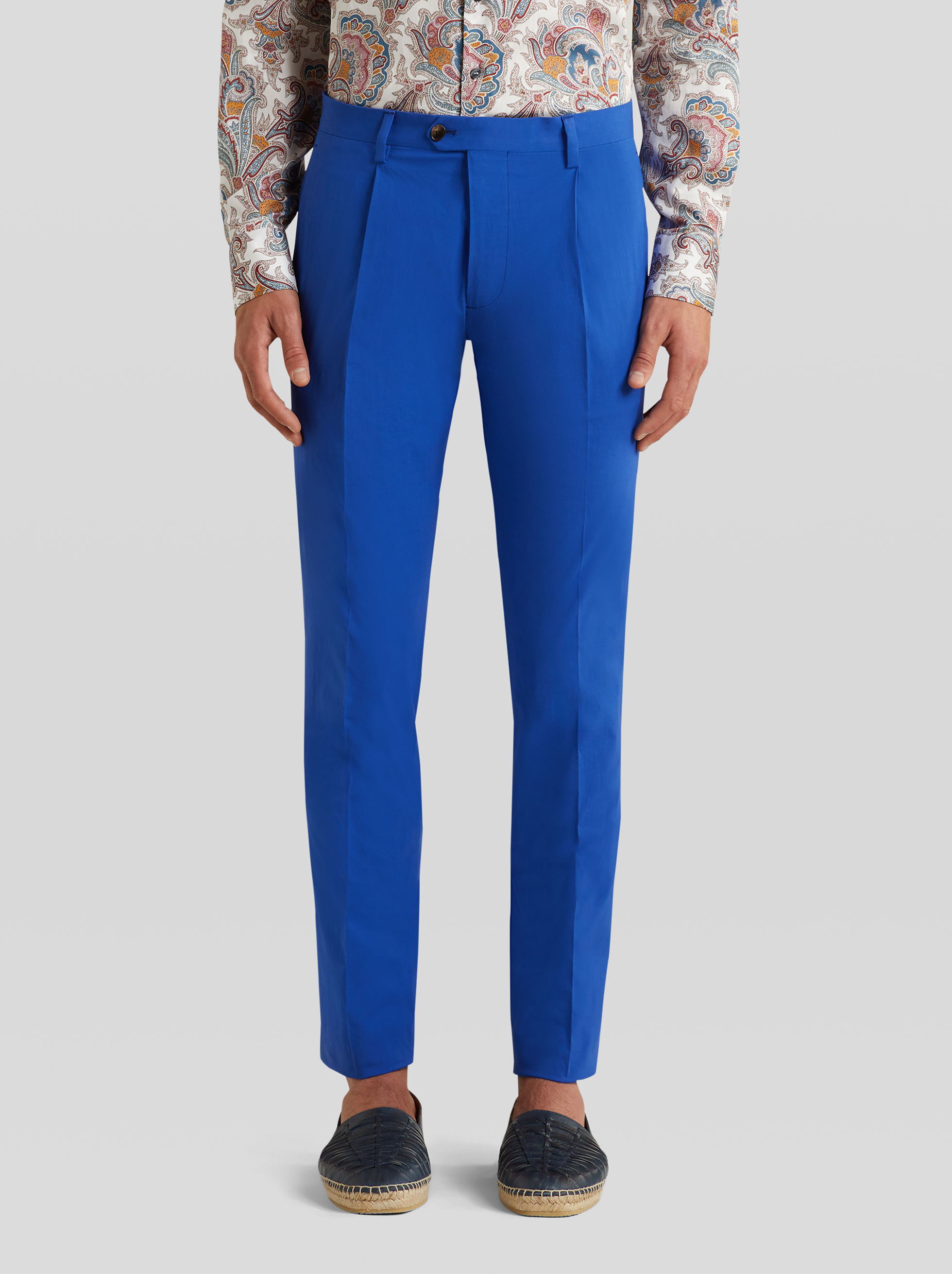 COTTON TROUSERS WITH TUCKS
