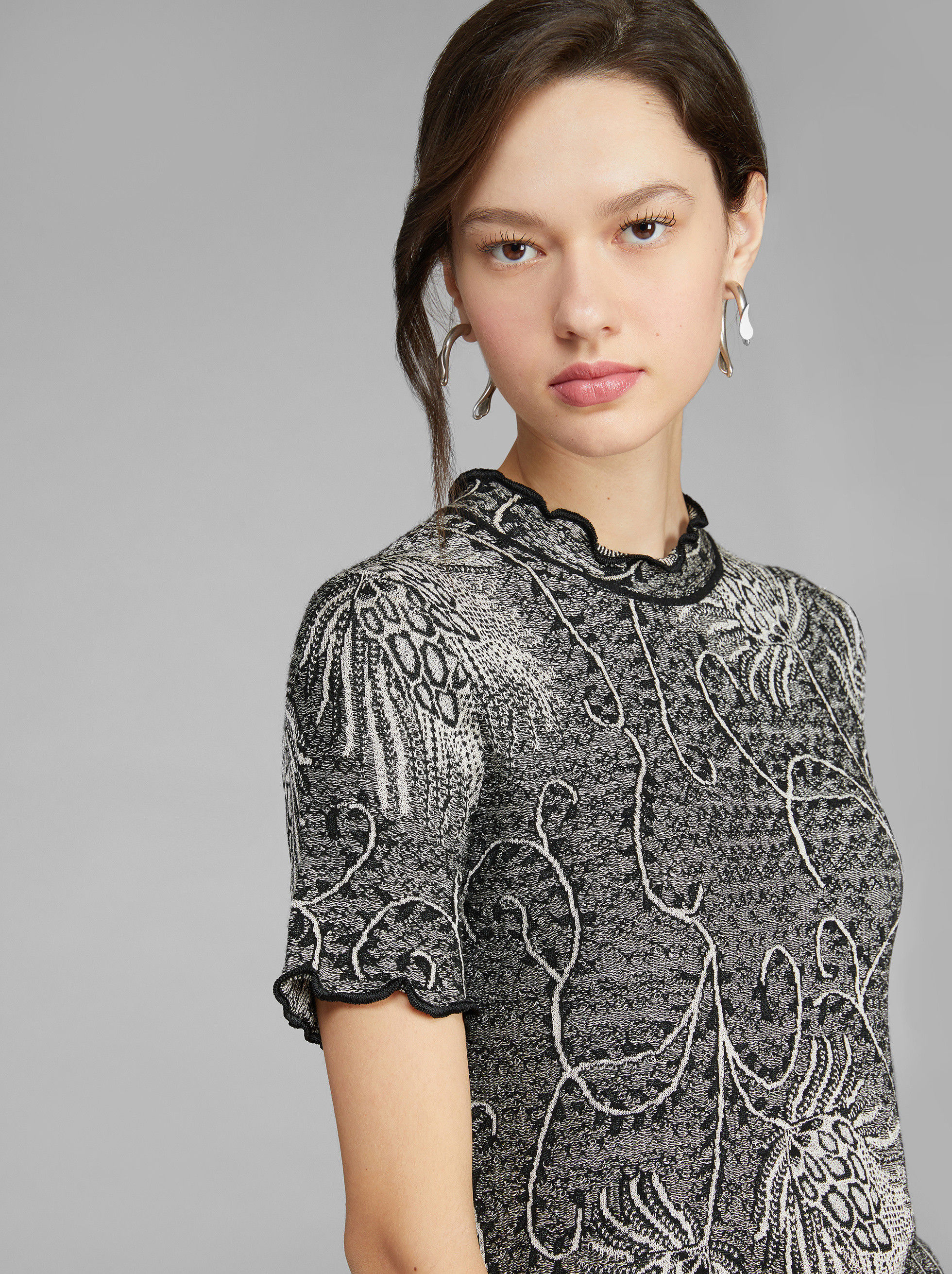 JACQUARD JUMPER WITH LUREX