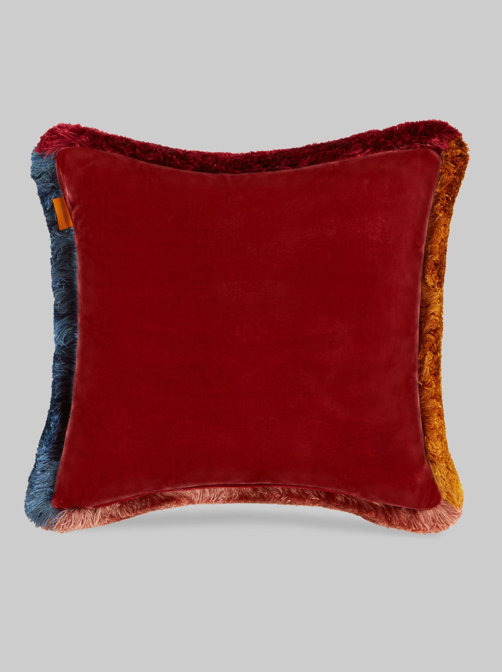 SILK TWILL CUSHION WITH ARCHIVE PRINT