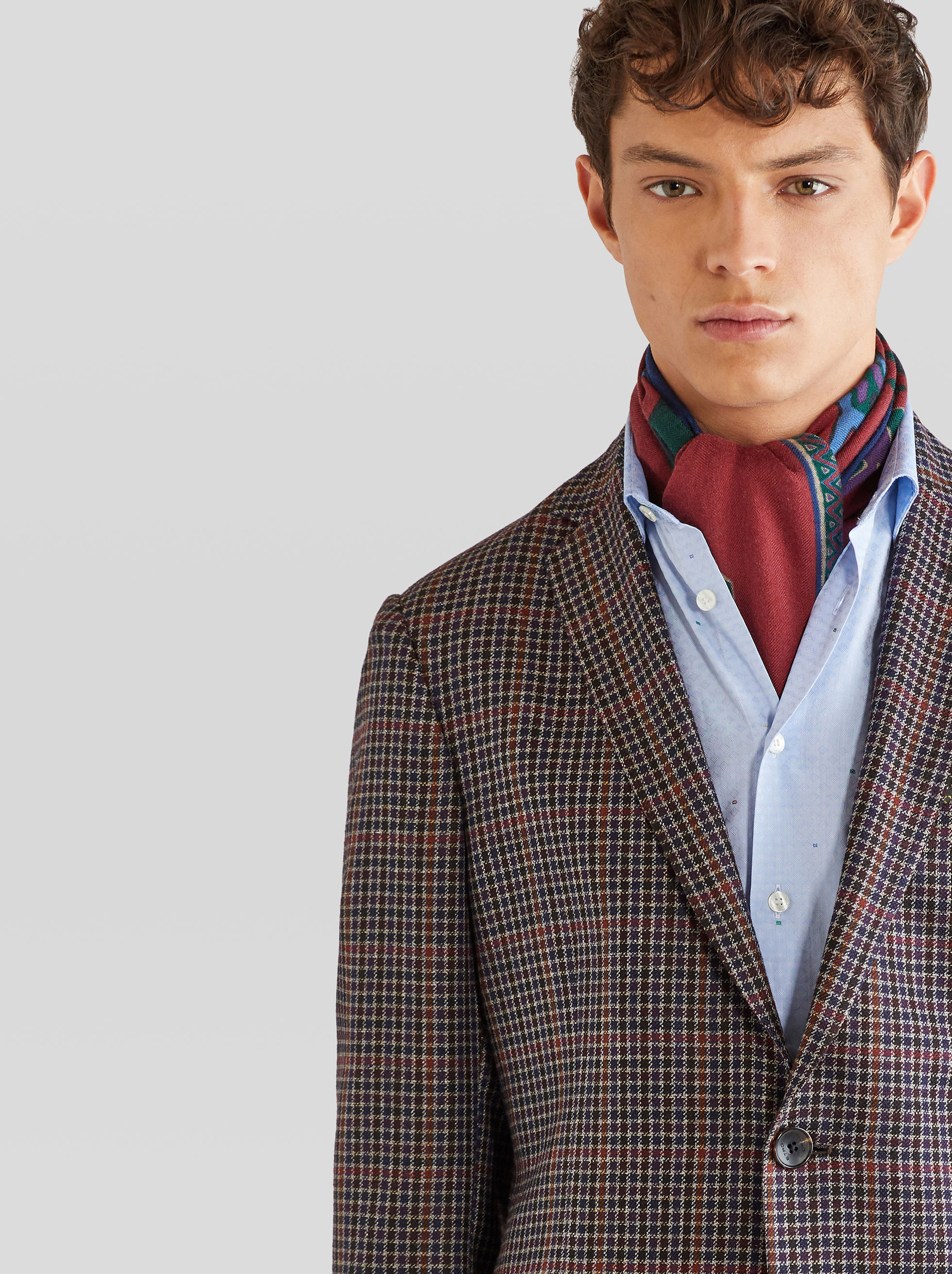 TAILORED JACKET WITH CHECK PATTERN