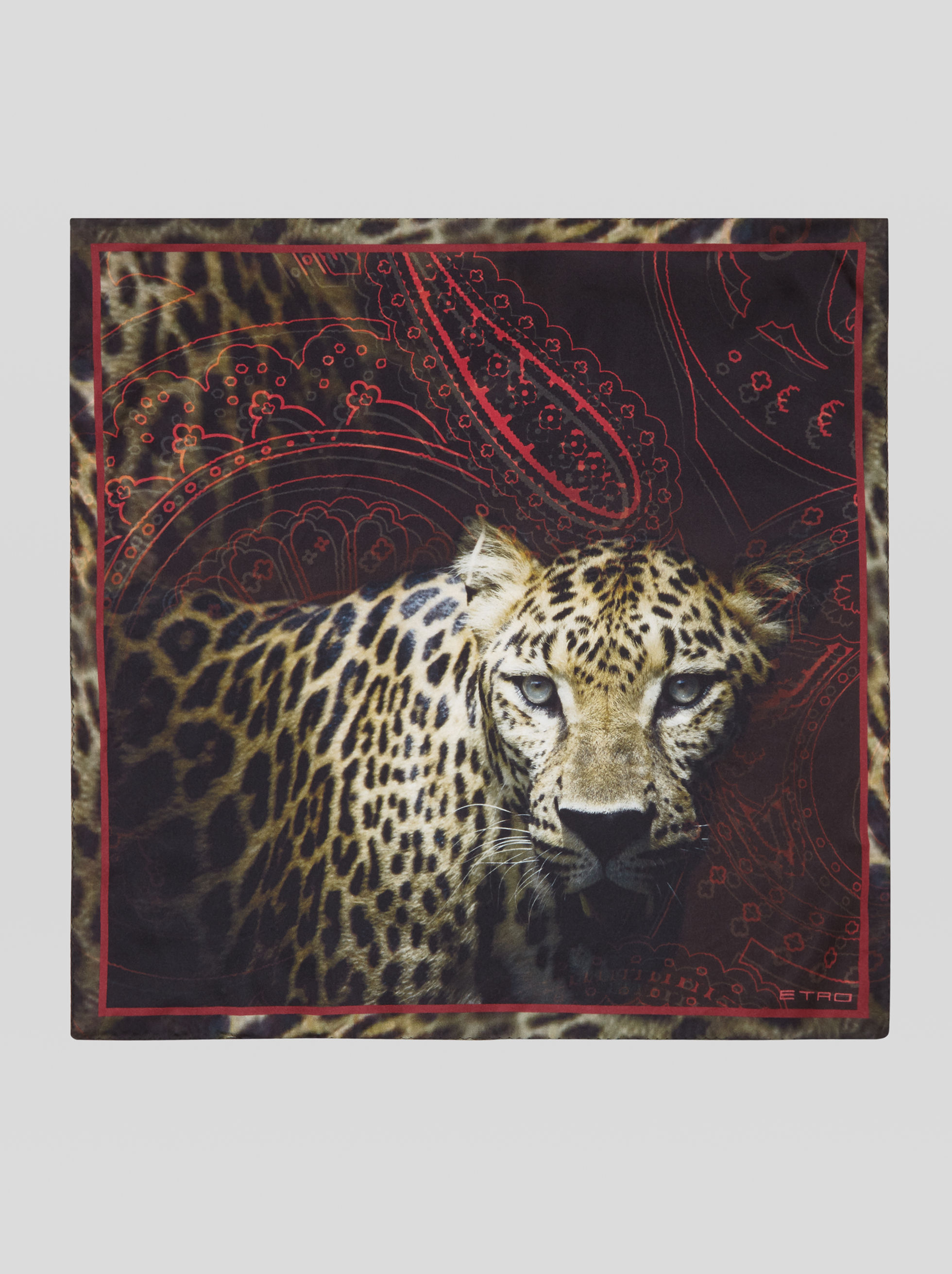 ANIMAL PRINT POCKET SQUARE