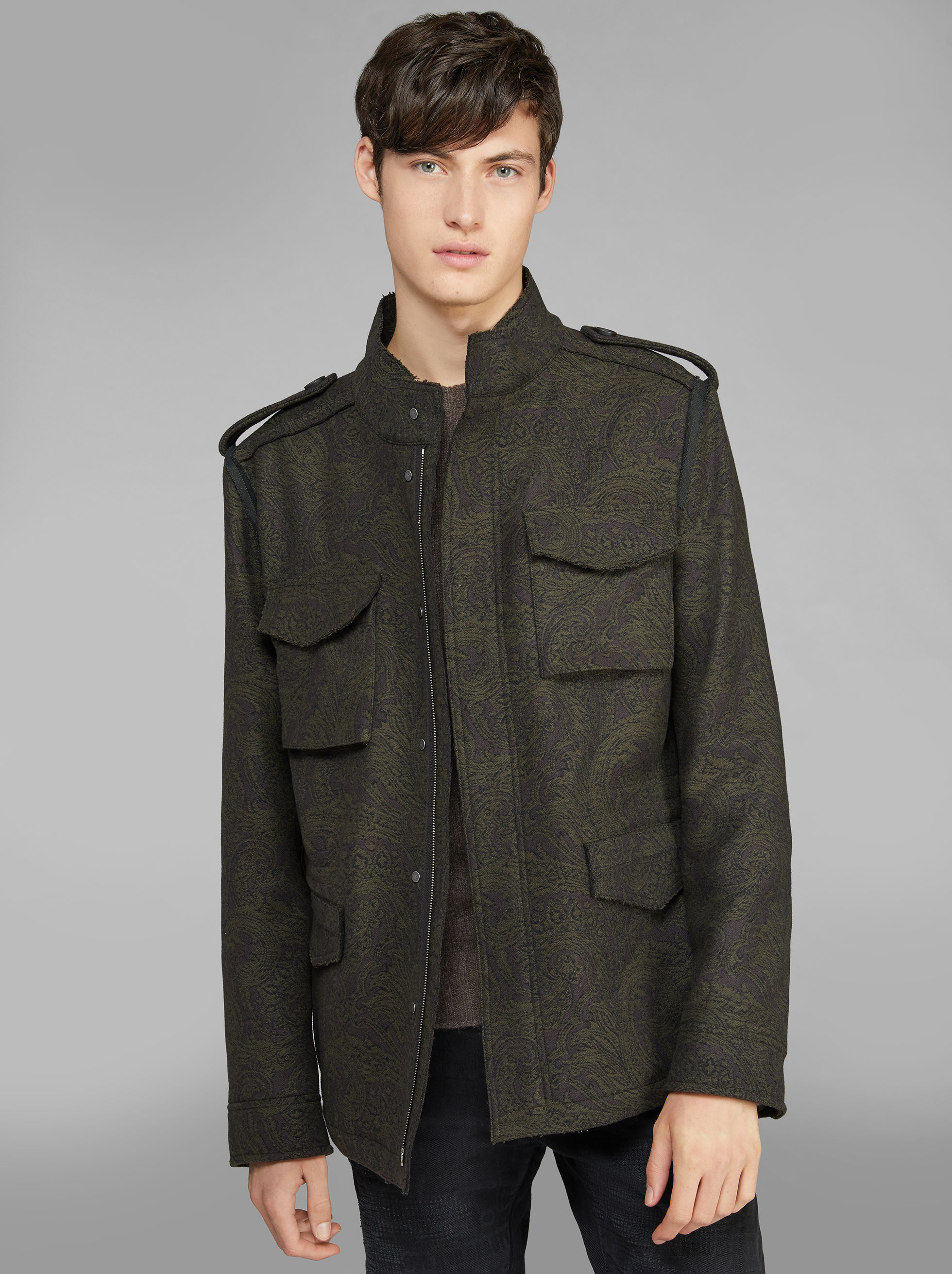 JACQUARD SAFARI JACKET