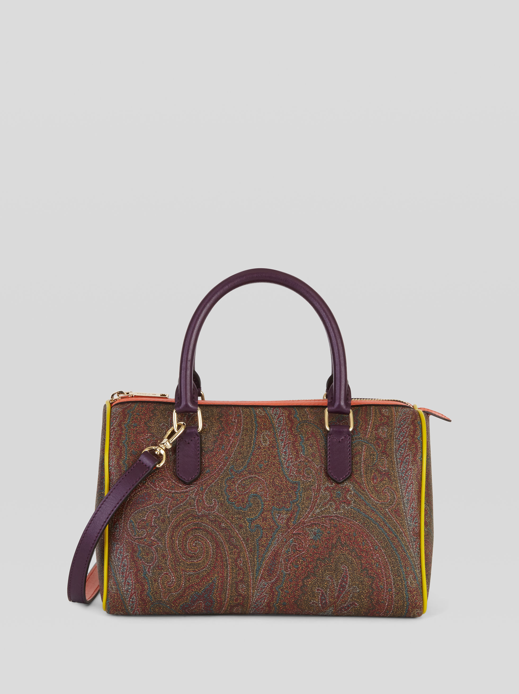 PAISLEY BOSTON BAG WITH MULTICOLORED DETAILING
