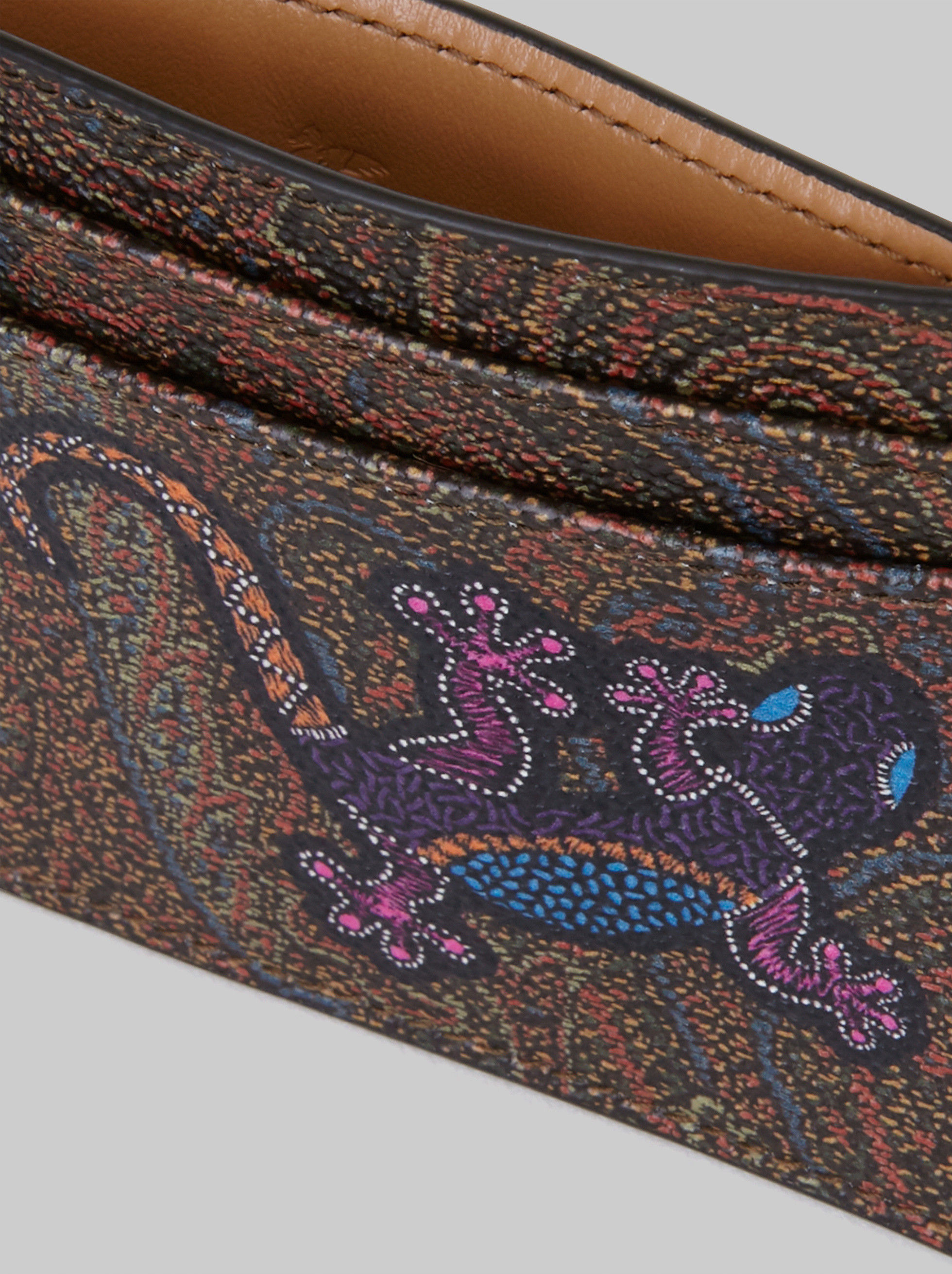 PAISLEY CREDIT CARD HOLDER WITH GECKO