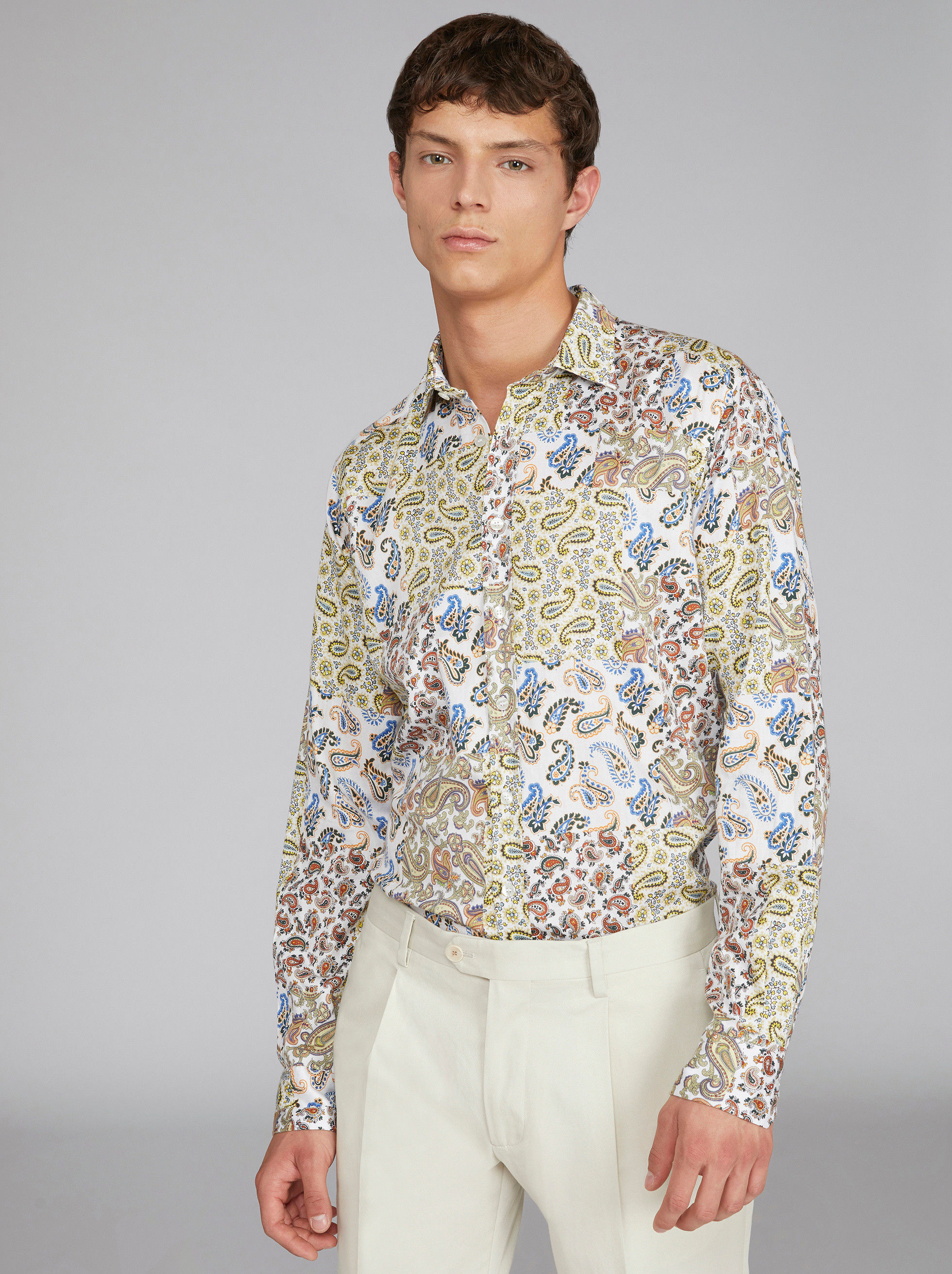 CAMICIA CON STAMPA PATCHWORK PAISLEY