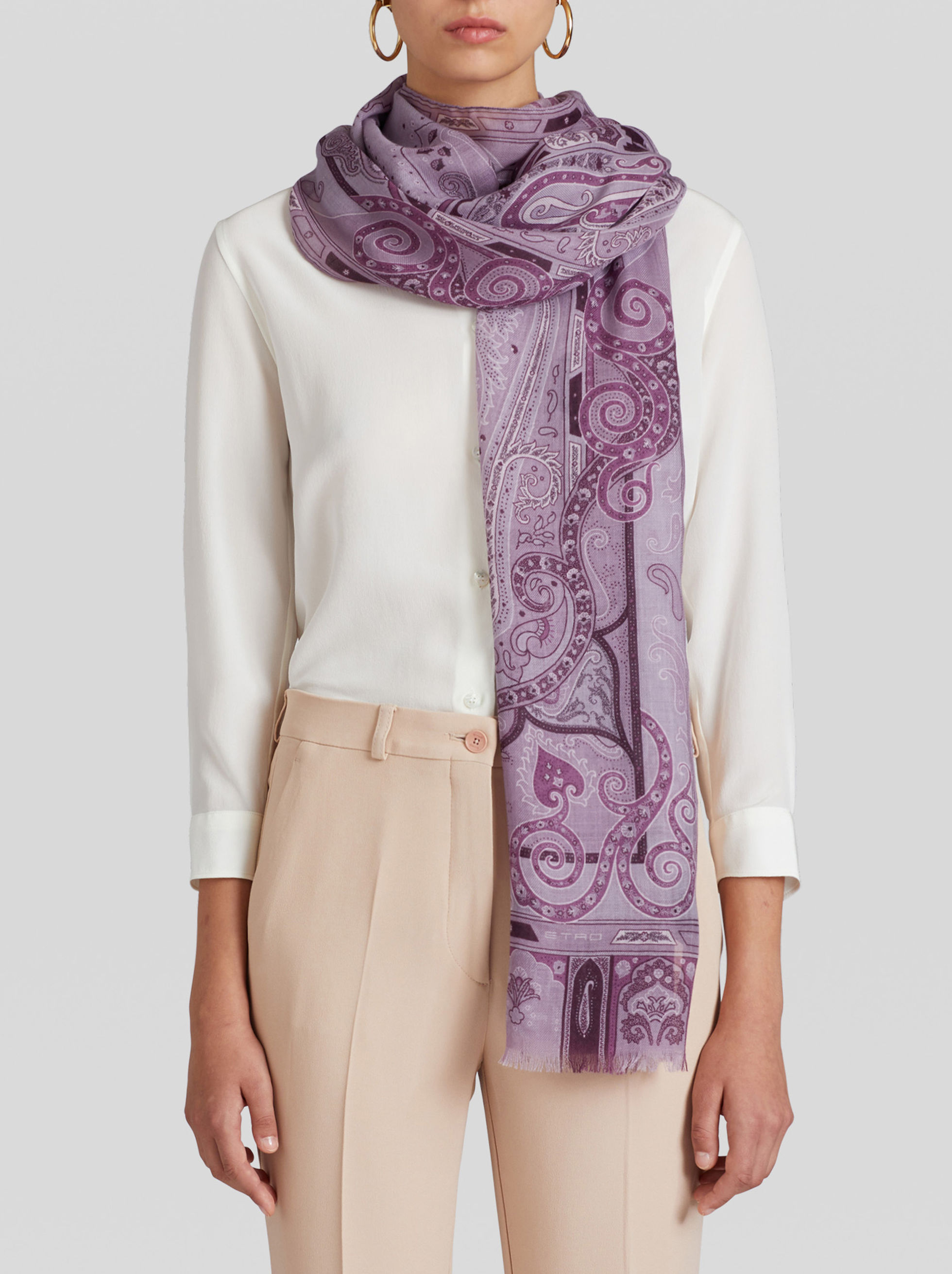 PAISLEY PATTERN CASHMERE SCARF