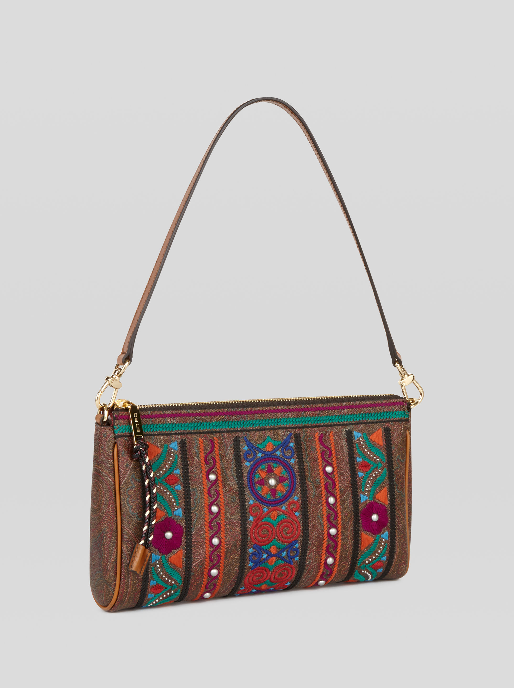 EMBROIDERED PAISLEY SHOULDER BAG