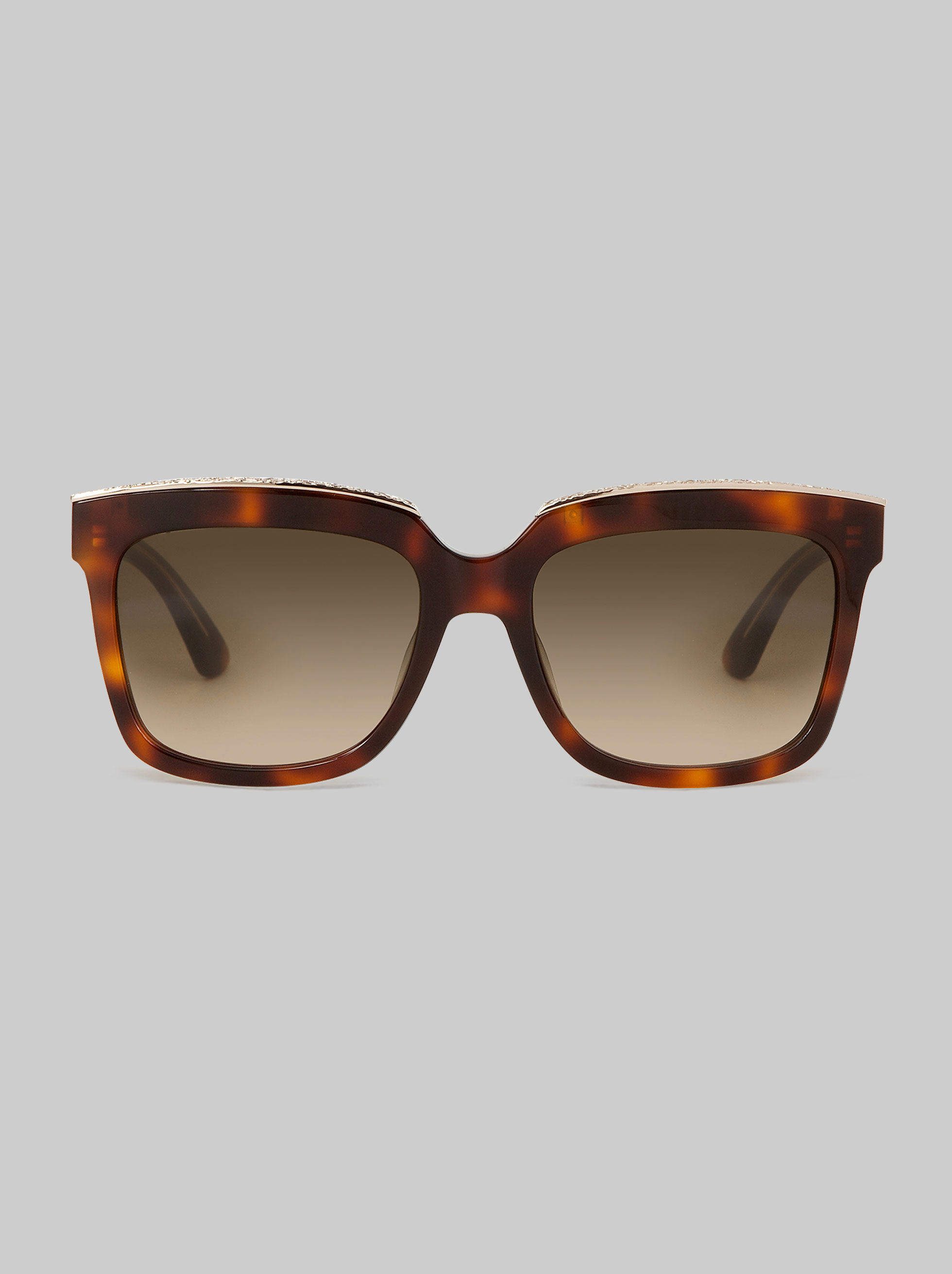 RECTANGULAR-FRAME SUNGLASSES WITH PAISLEY MOTIF