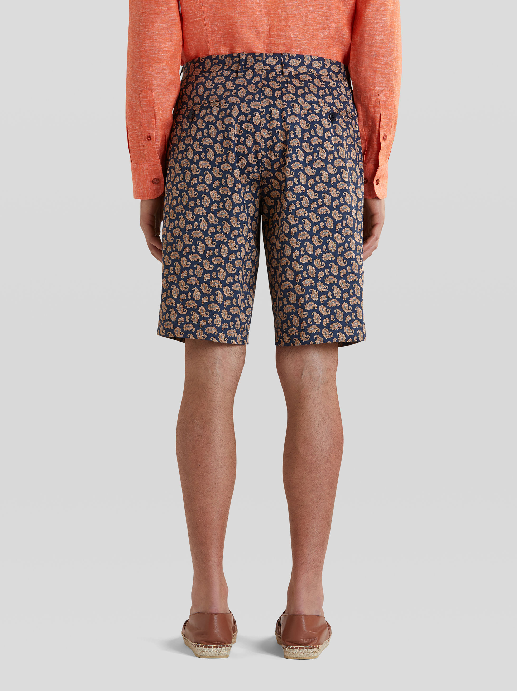 BERMUDAS WITH MICRO PAISLEY