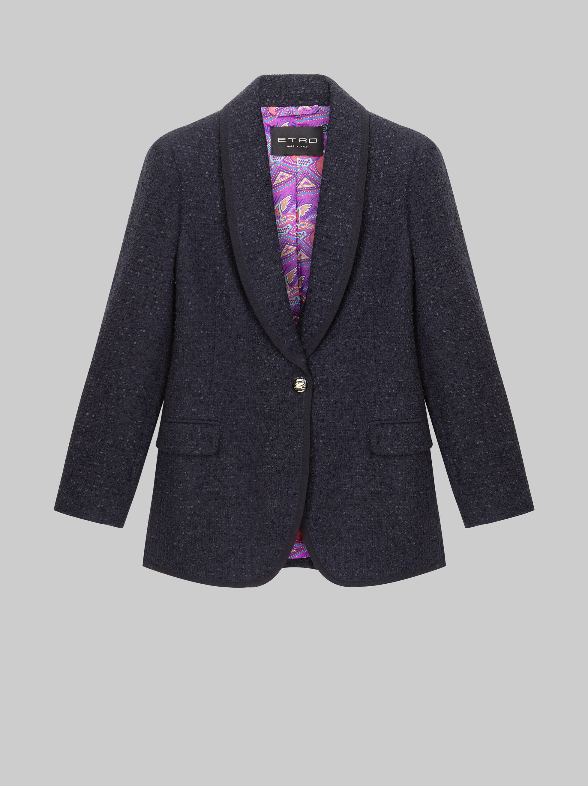 FRISÉ TAILORED JACKET WITH PEGASO BUTTONS