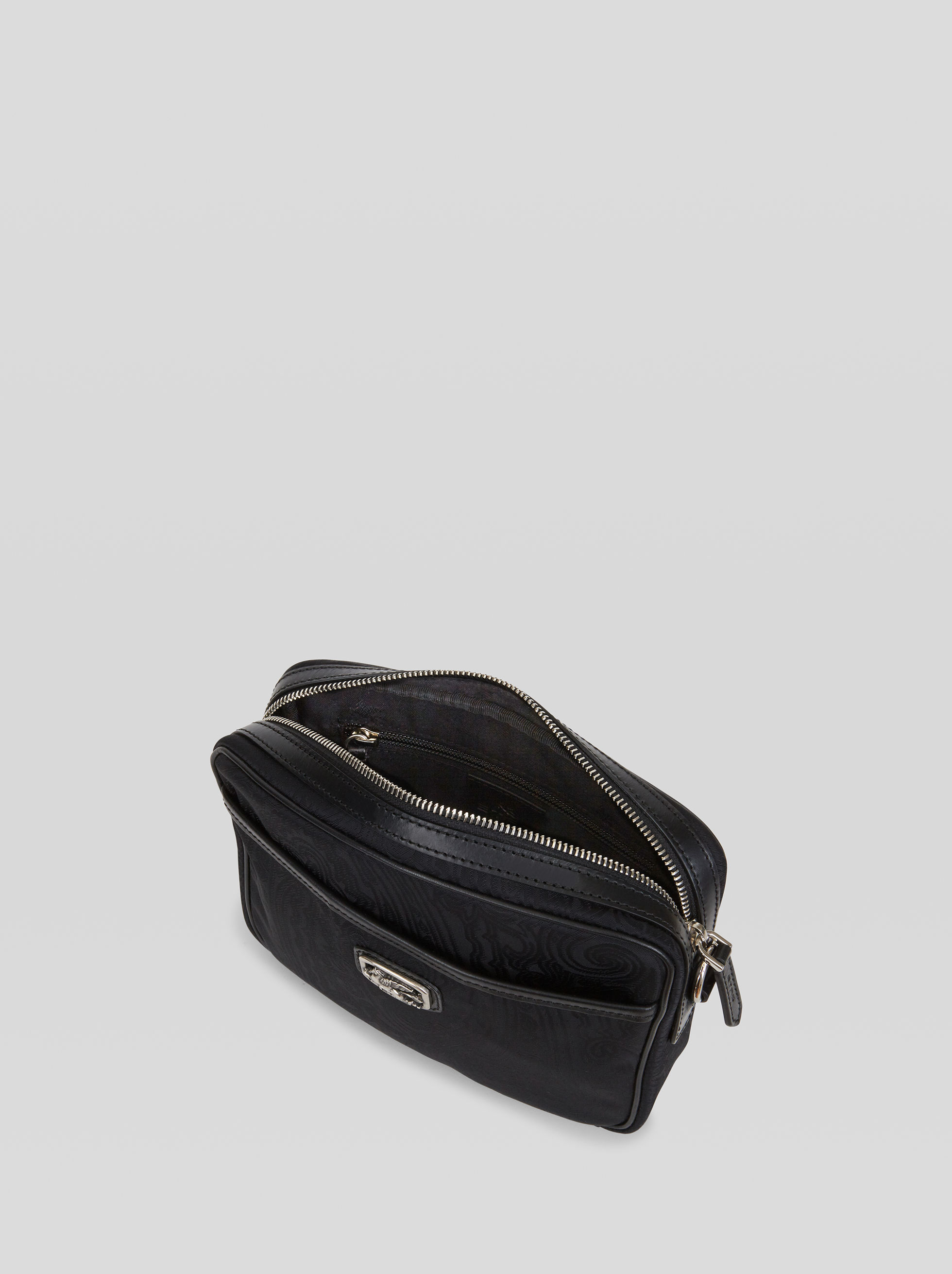 NYLON JACQUARD SHOULDER BAG WITH PEGASO