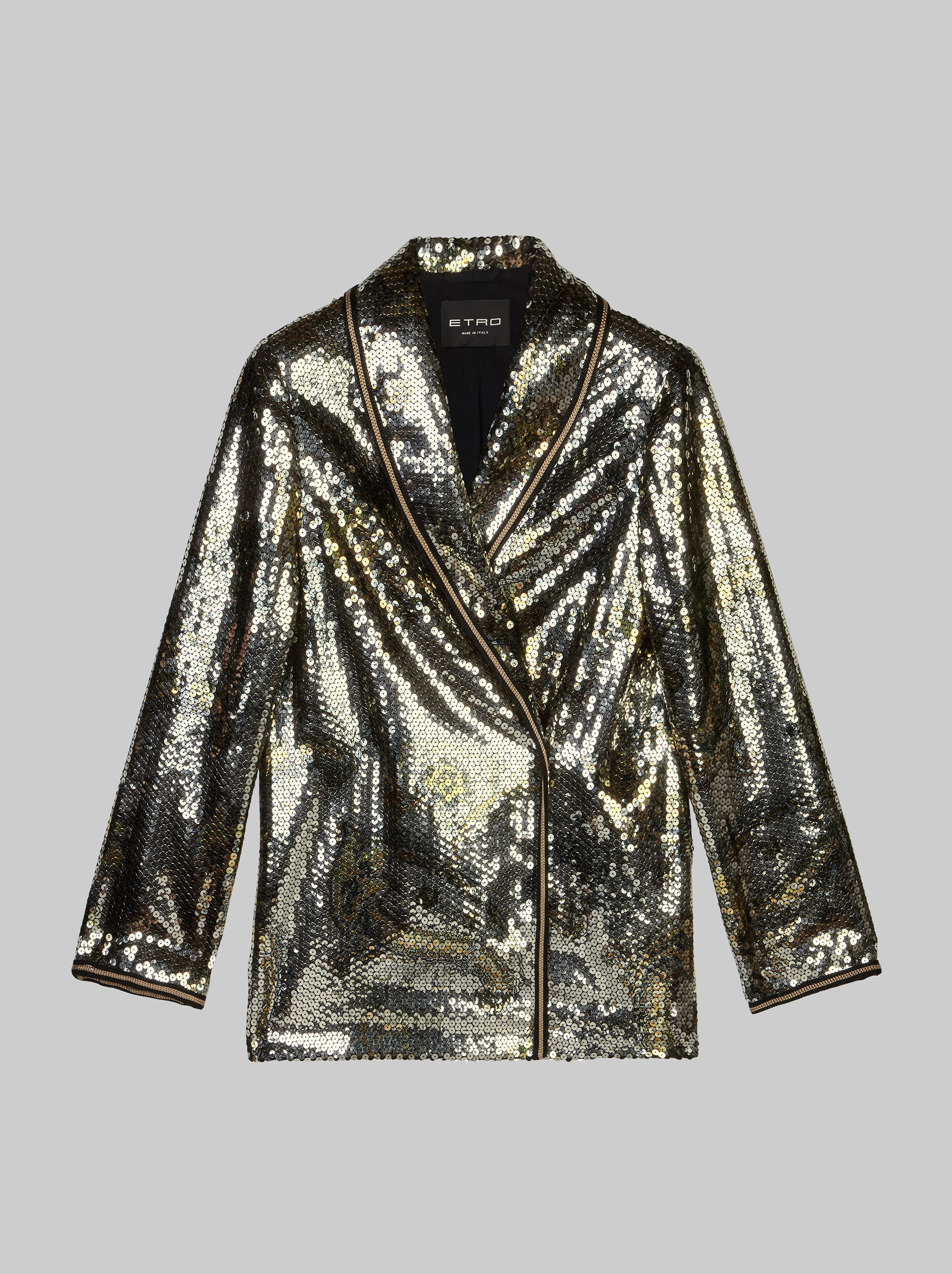 JACKET WITH SEQUIN EMBROIDERIES