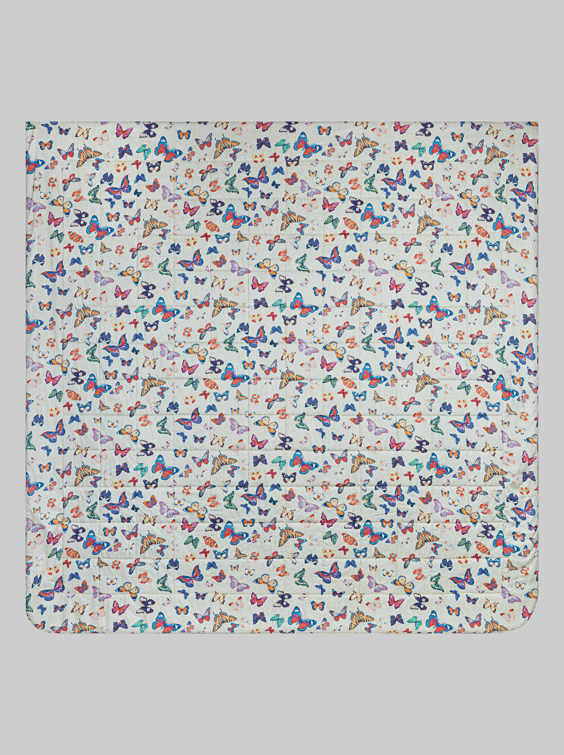 BUTTERFLY PRINT SATIN QUILT